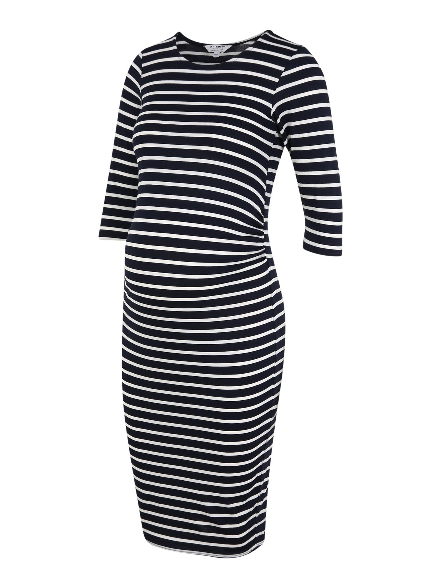 Dorothy Perkins Maternity Suknelė tamsiai mėlyna / balta