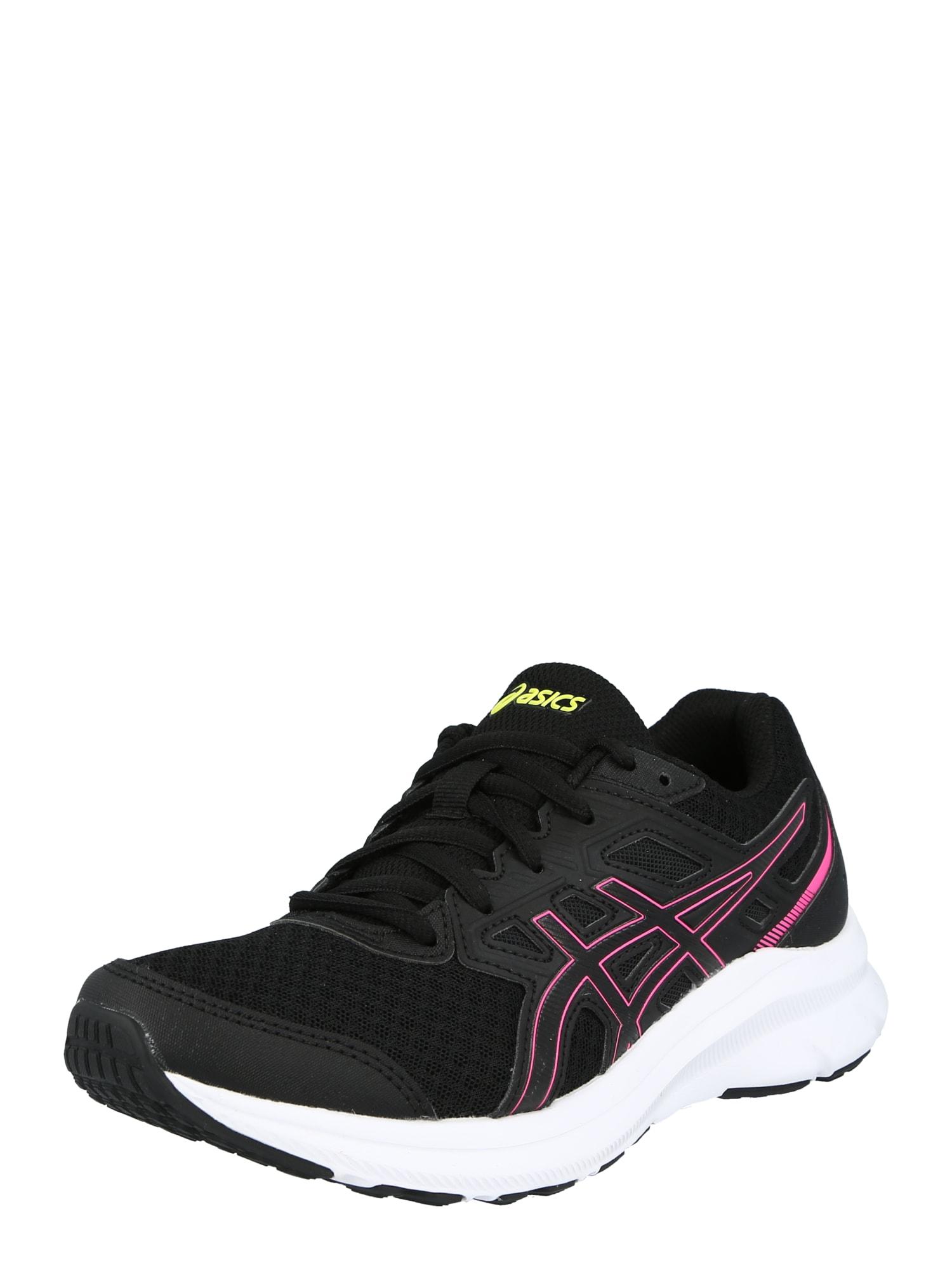 ASICS Bėgimo batai juoda / rožinė / neoninė geltona