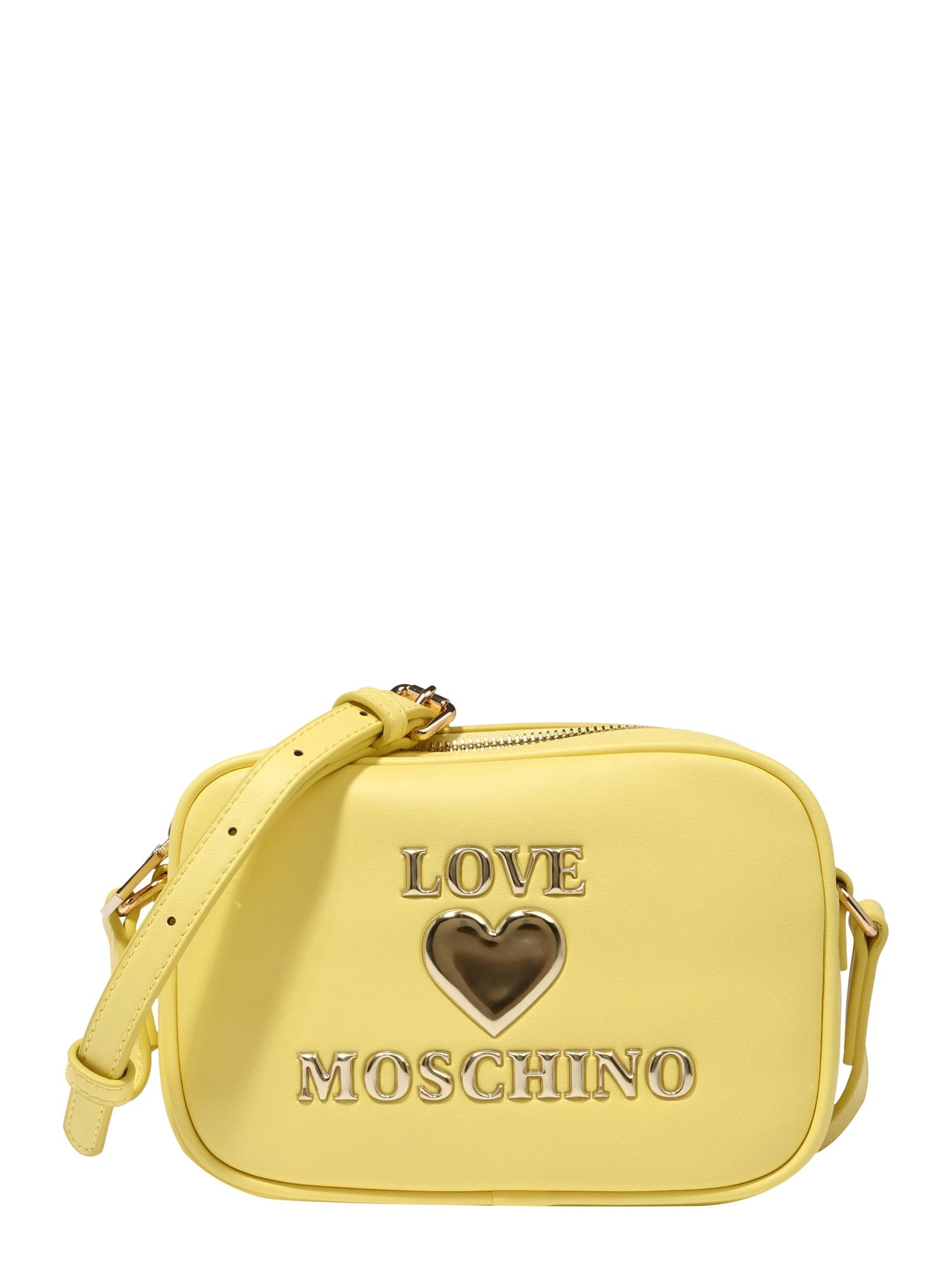 Love Moschino Rankinė su ilgu dirželiu geltona / auksas