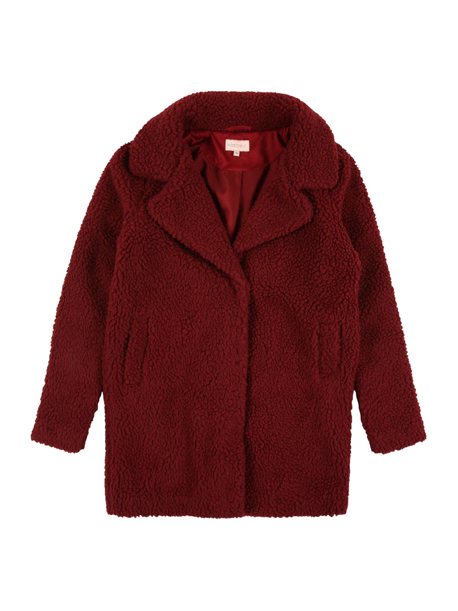 KIDS ONLY Kabát  červená třešeň