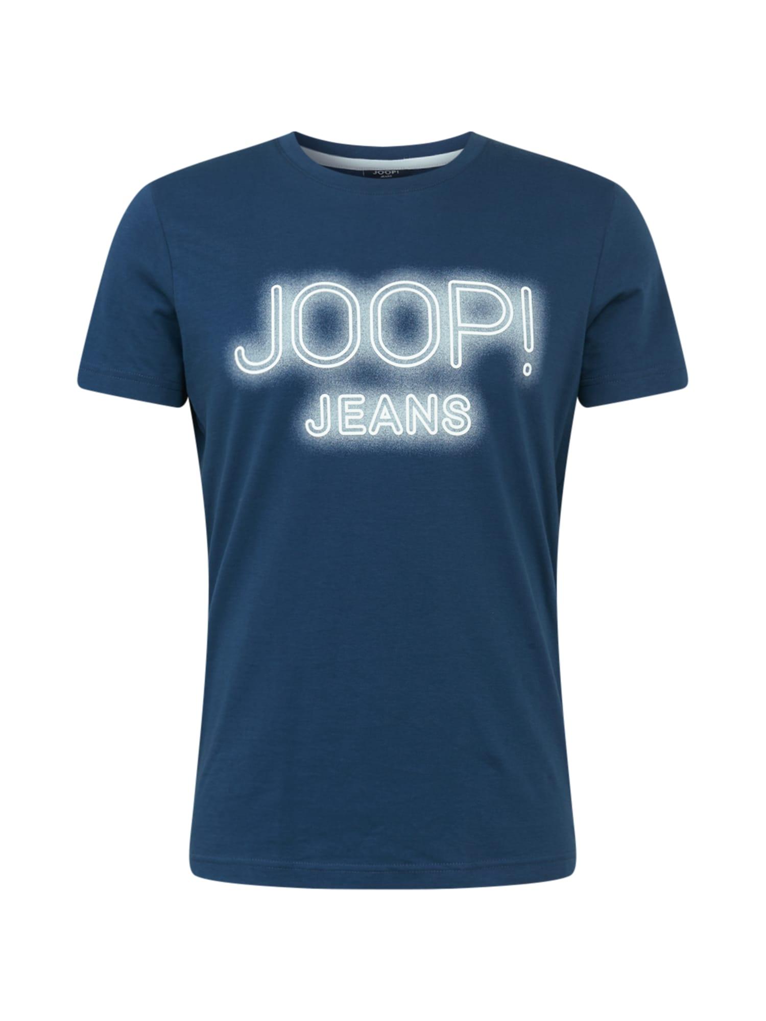 JOOP! Jeans Marškinėliai dangaus žydra / balta