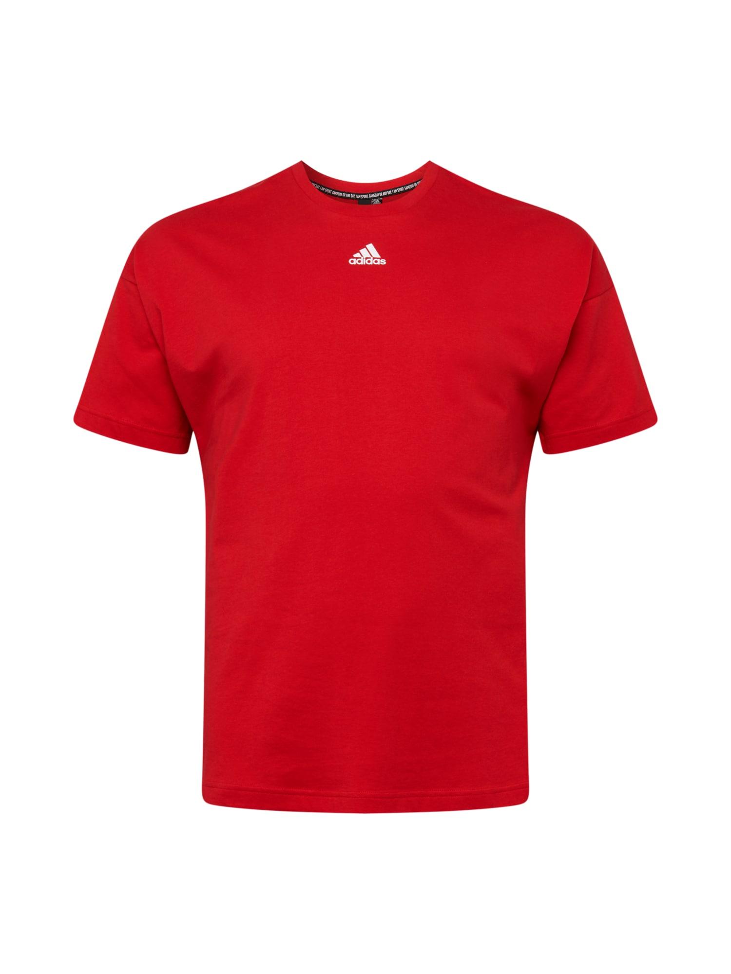 ADIDAS PERFORMANCE Funkční tričko  červená / bílá
