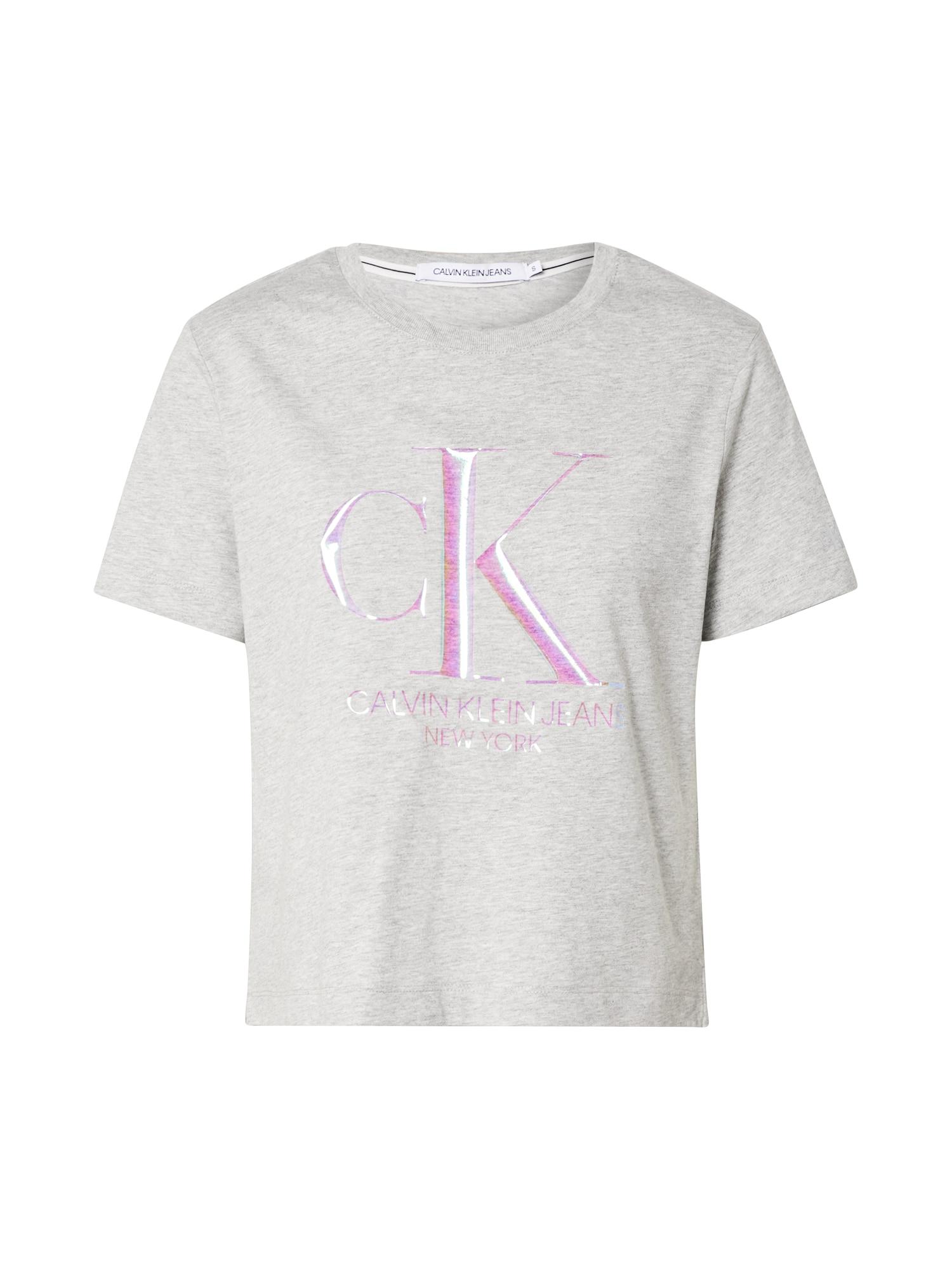 Calvin Klein Marškinėliai 'Iridescent' juoda