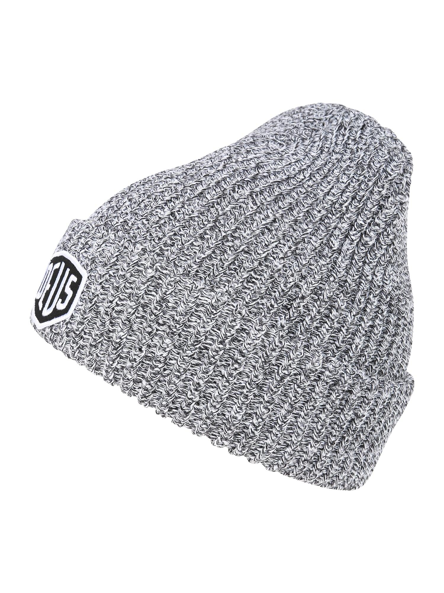 DEUS EX MACHINA Megzta kepurė antracito spalva / margai pilka / margai balta