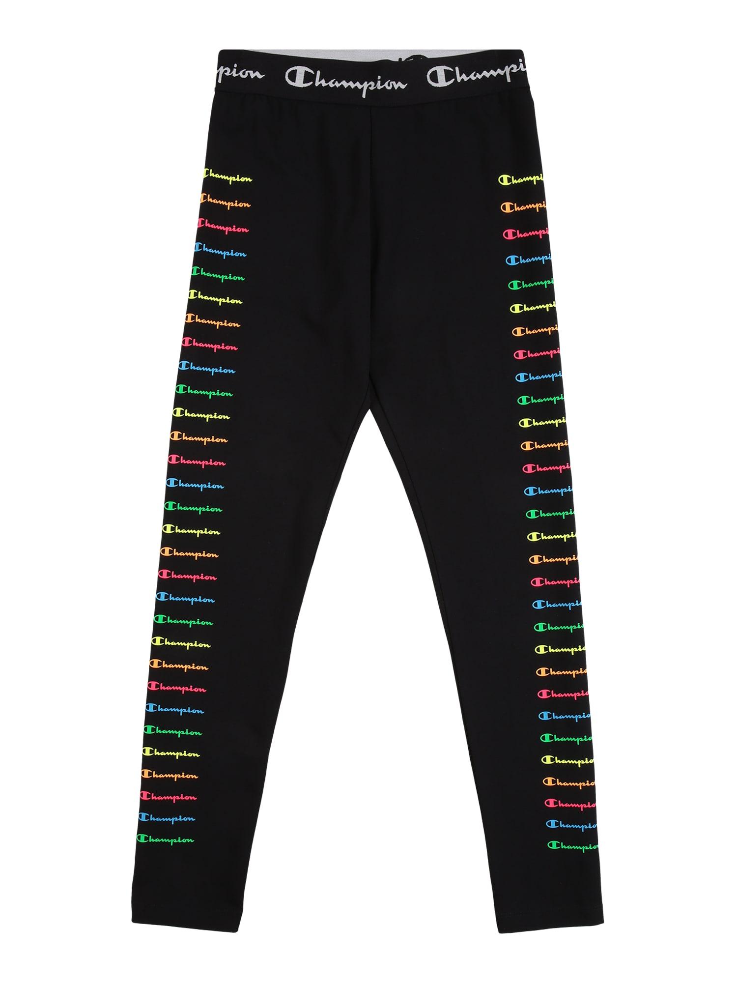 Champion Authentic Athletic Apparel Tamprės juoda / balta / šviesiai mėlyna / oranžinė / mišrios spalvos