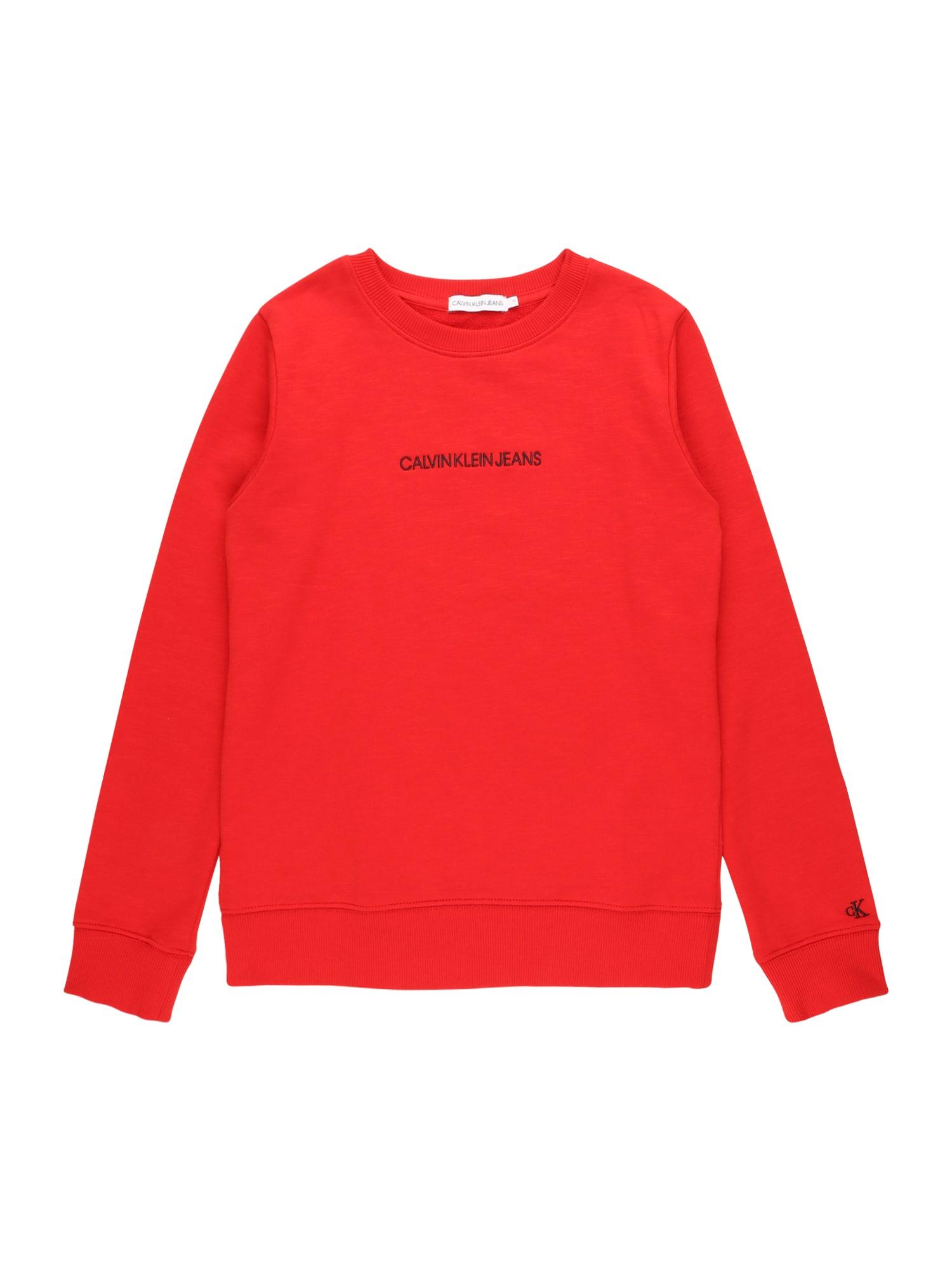 Calvin Klein Jeans Mikina  červená