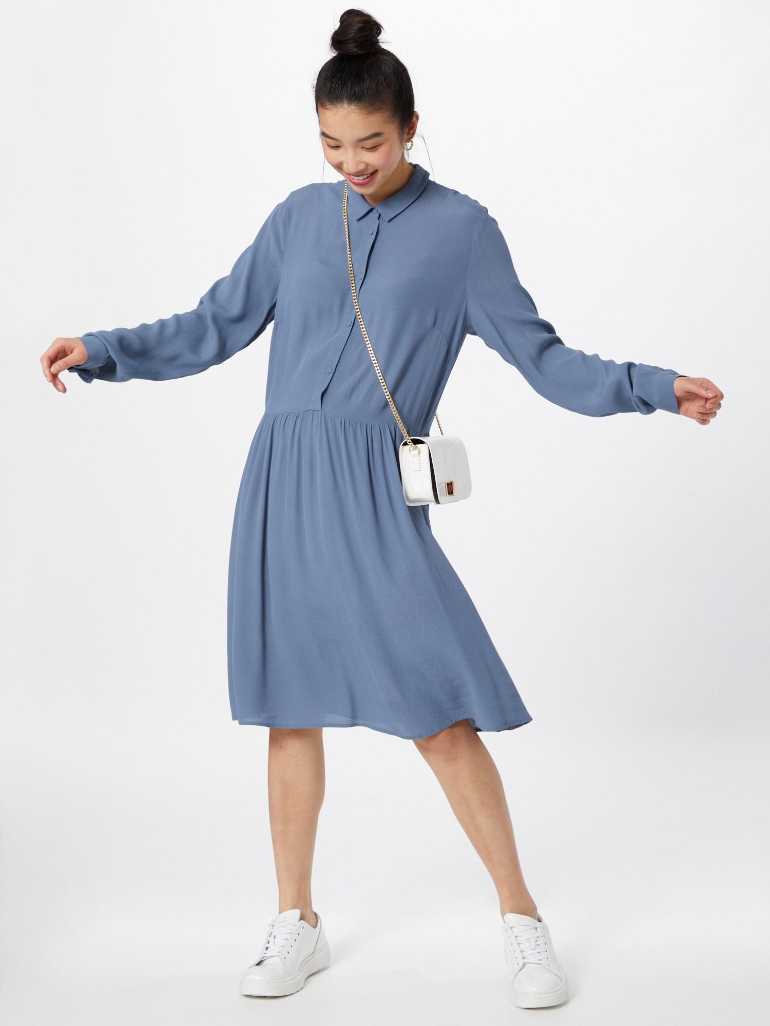 minimum Košeľové šaty 'Bindie 212'  dymovo modrá.