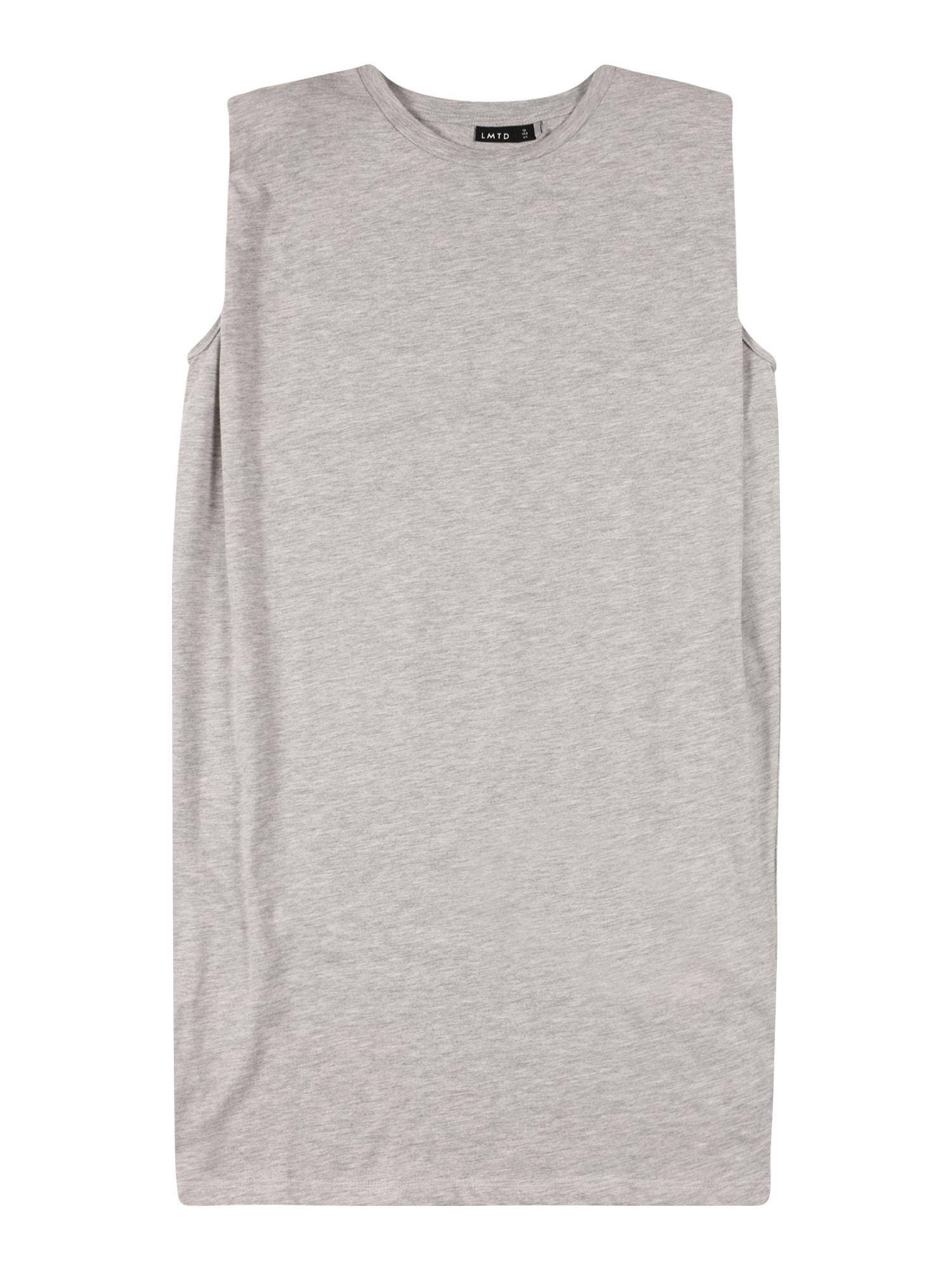LMTD Šaty  šedý melír