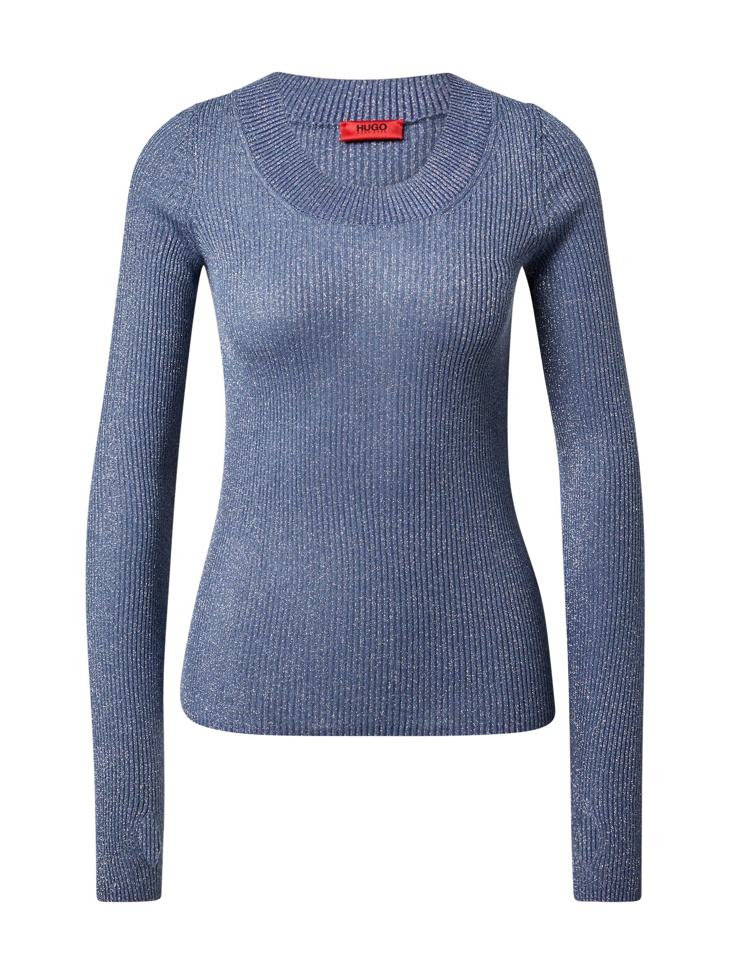 HUGO Megztinis 'Sunessa' mėlyna