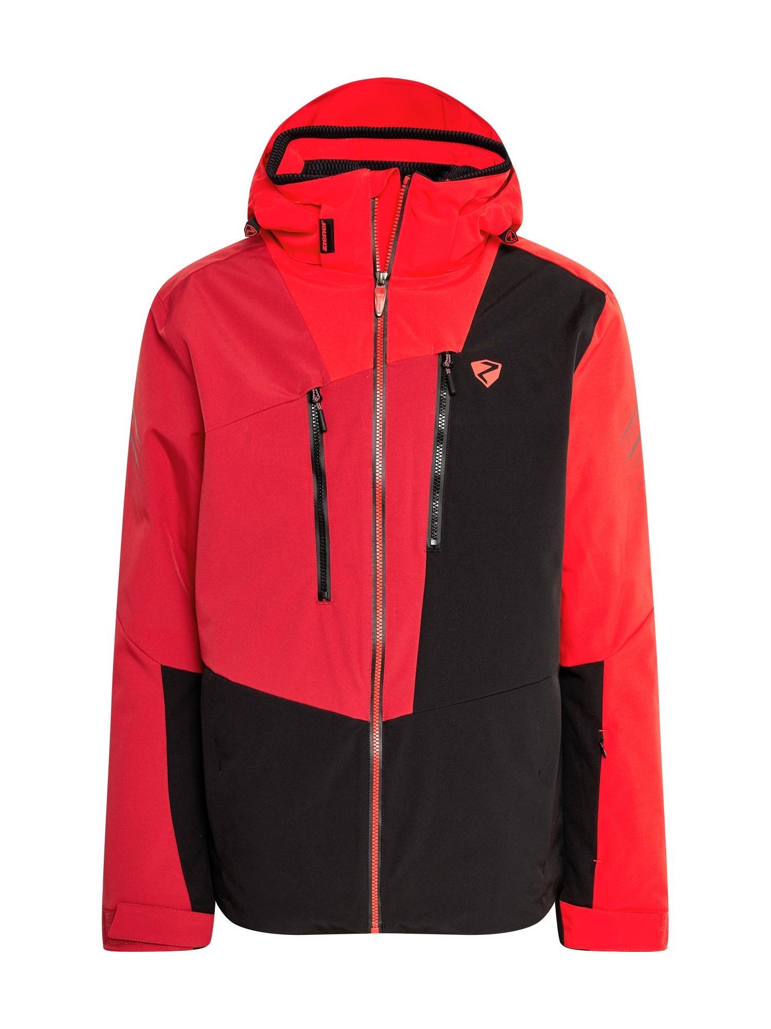 ZIENER Outdoorová bunda  černá / červená