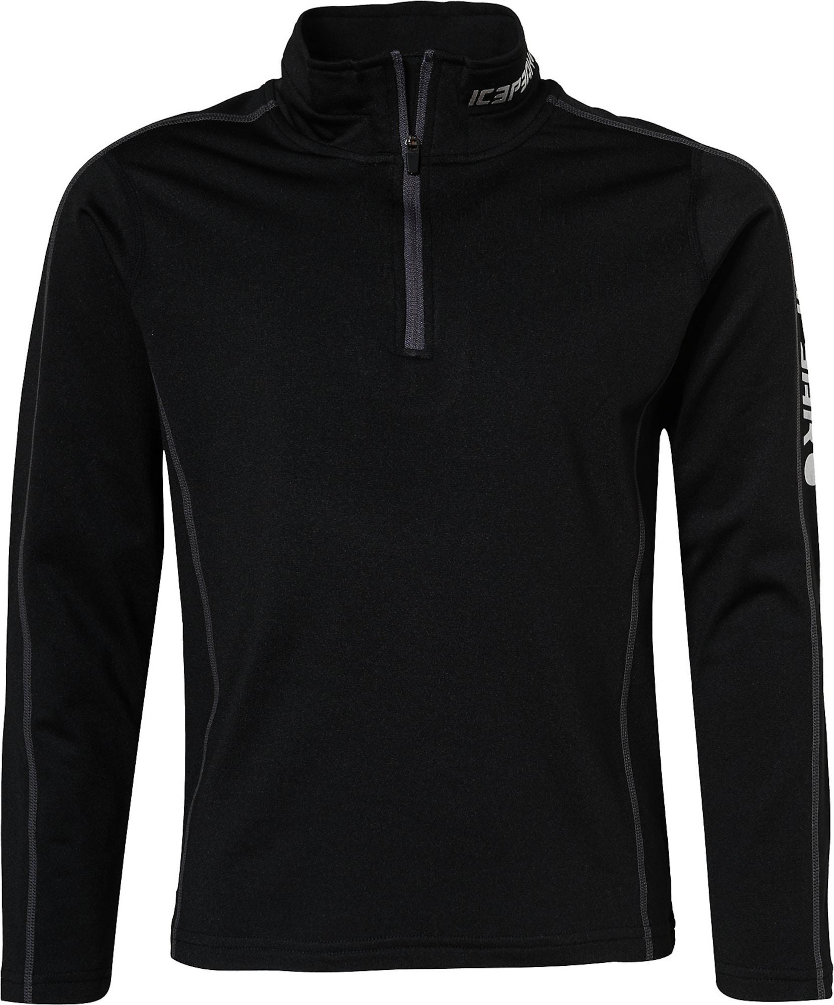 ICEPEAK Sportinio tipo megztinis juoda / sidabrinė