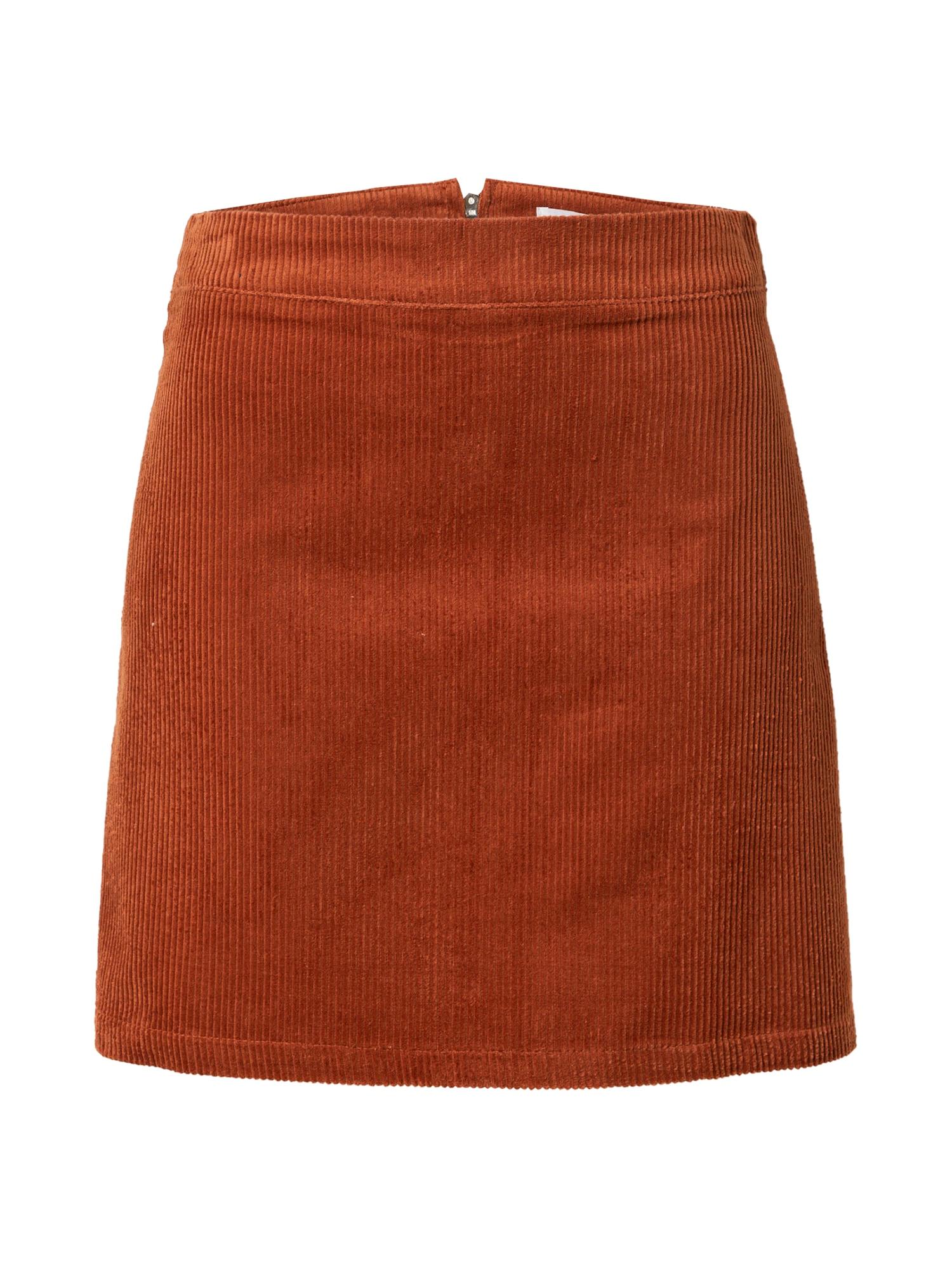 GLAMOROUS Sijonas bronzinė / rusva / tamsiai oranžinė