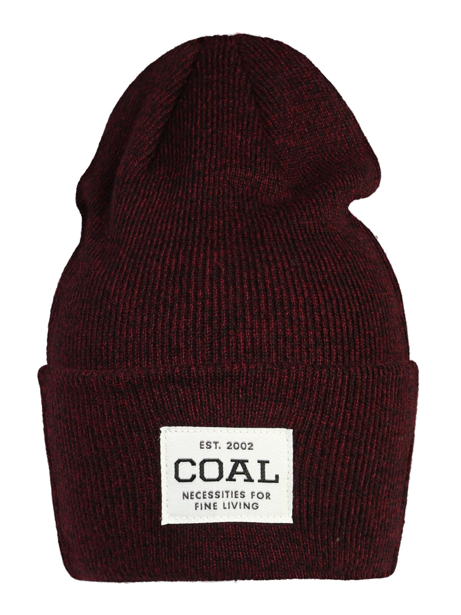 Coal Sportovní čepice  bordó / bílá