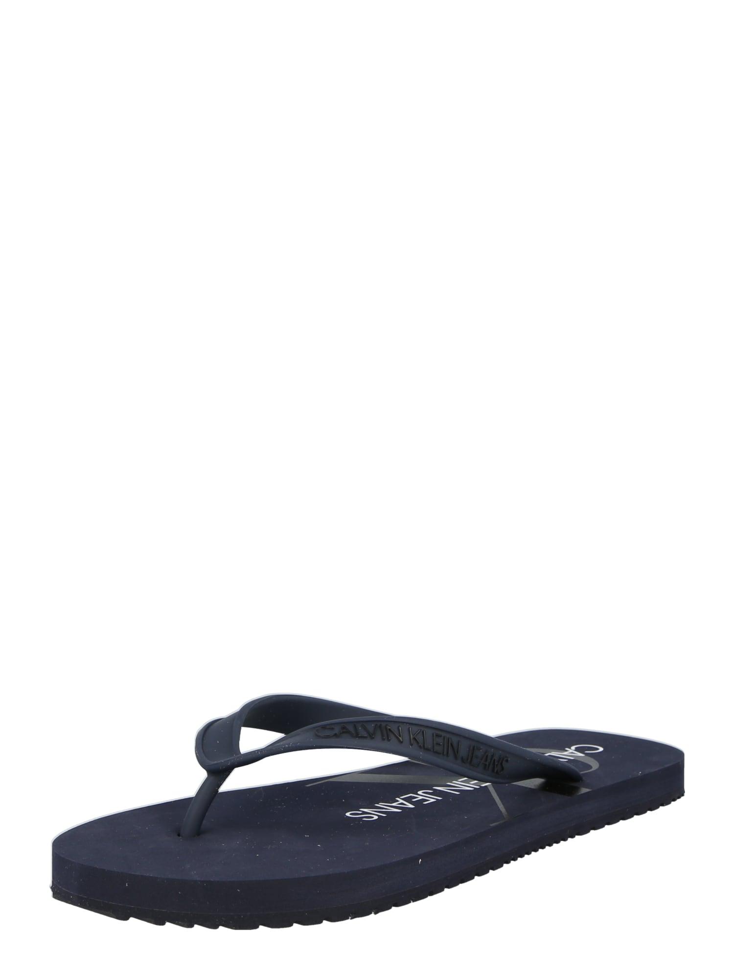 Calvin Klein Jeans Sandalai nakties mėlyna / juoda