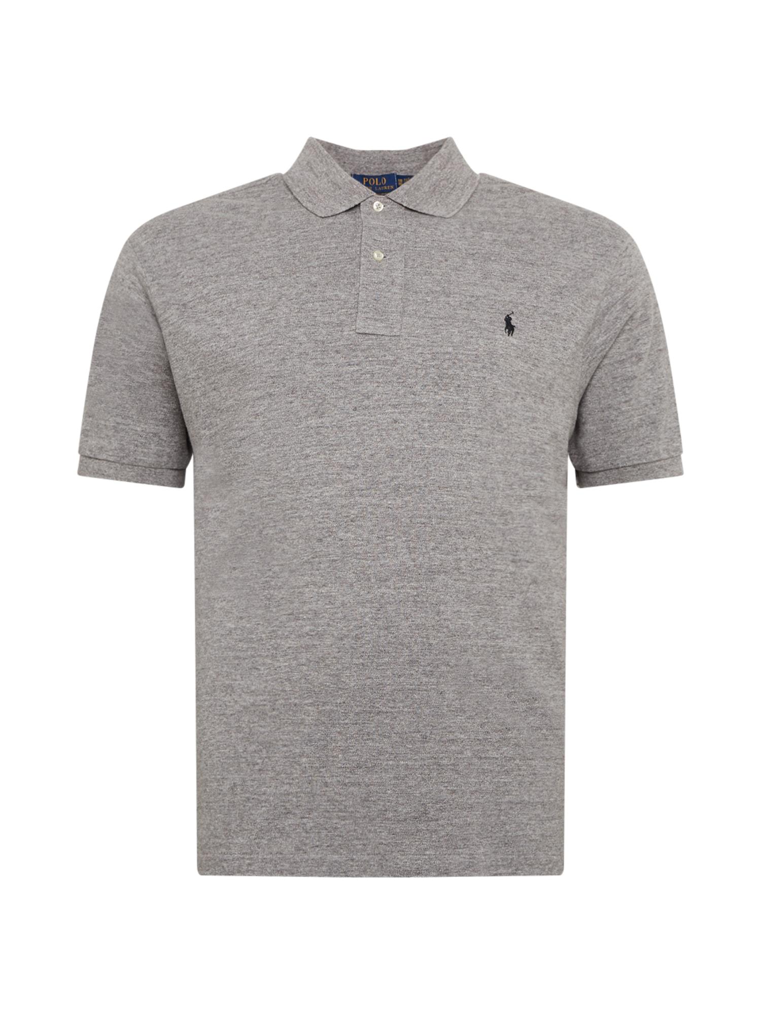 POLO RALPH LAUREN Marškinėliai margai pilka / juoda