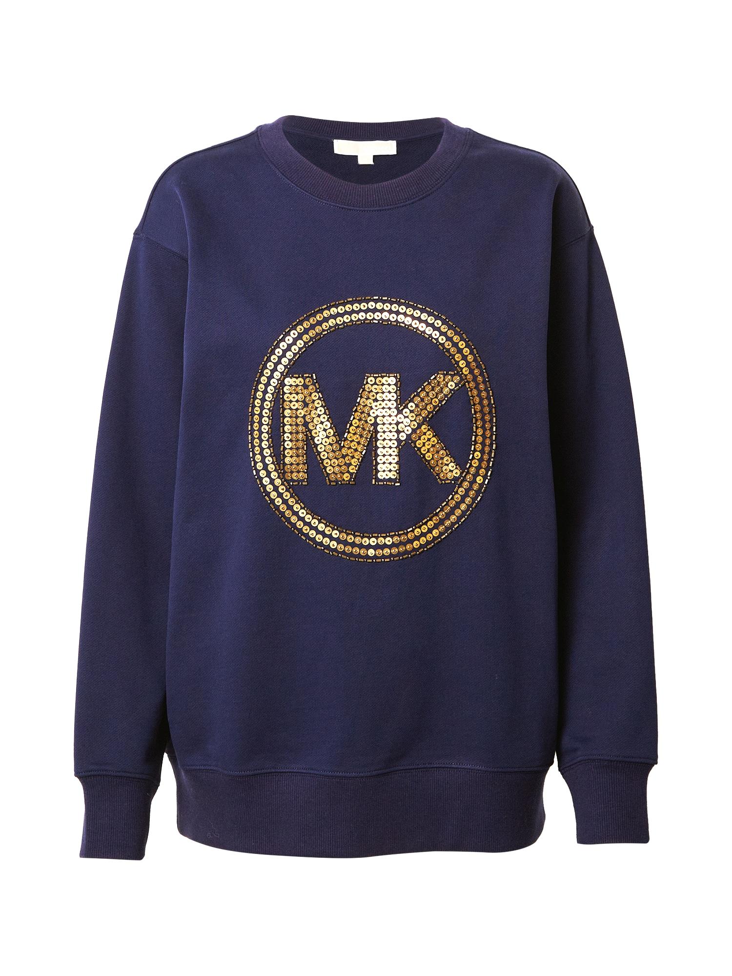 MICHAEL Michael Kors Megztinis be užsegimo tamsiai mėlyna / auksas