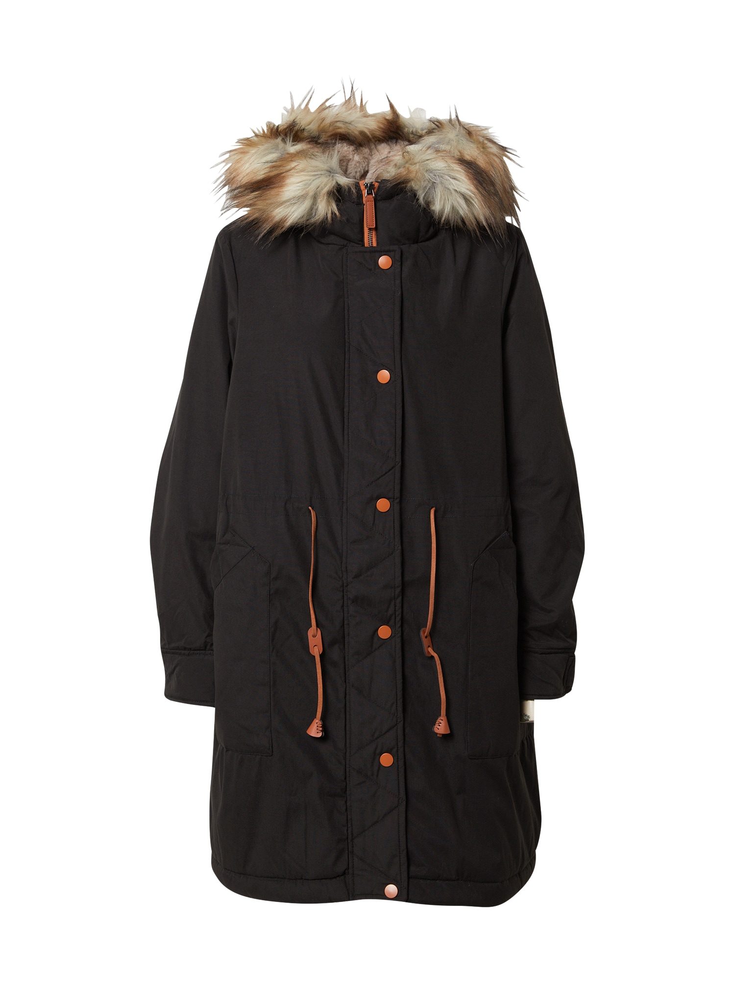 VILA Zimní kabát 'Flavia'  černá