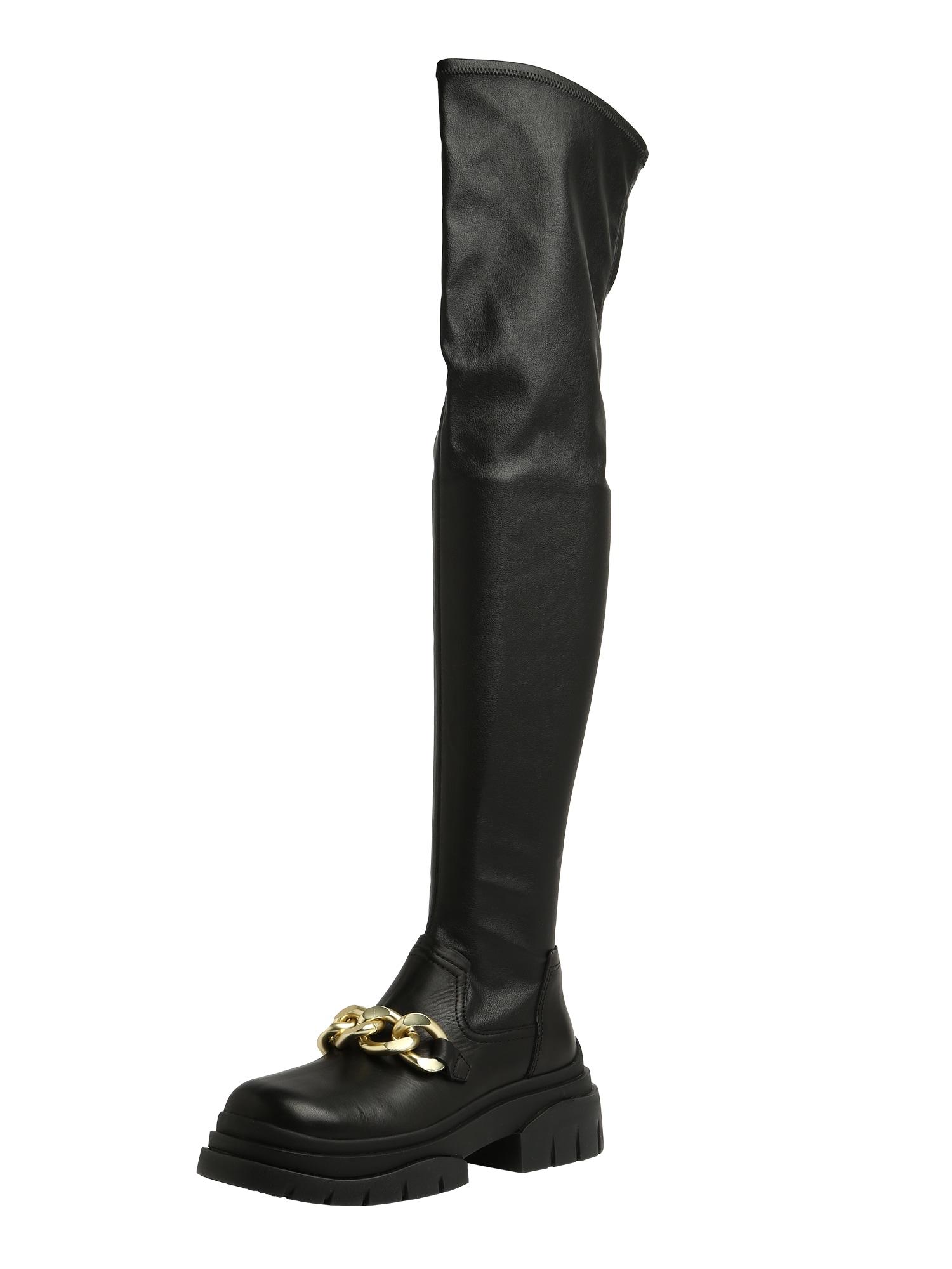 ASH Kozačky nad kolena 'Star Chain'  černá