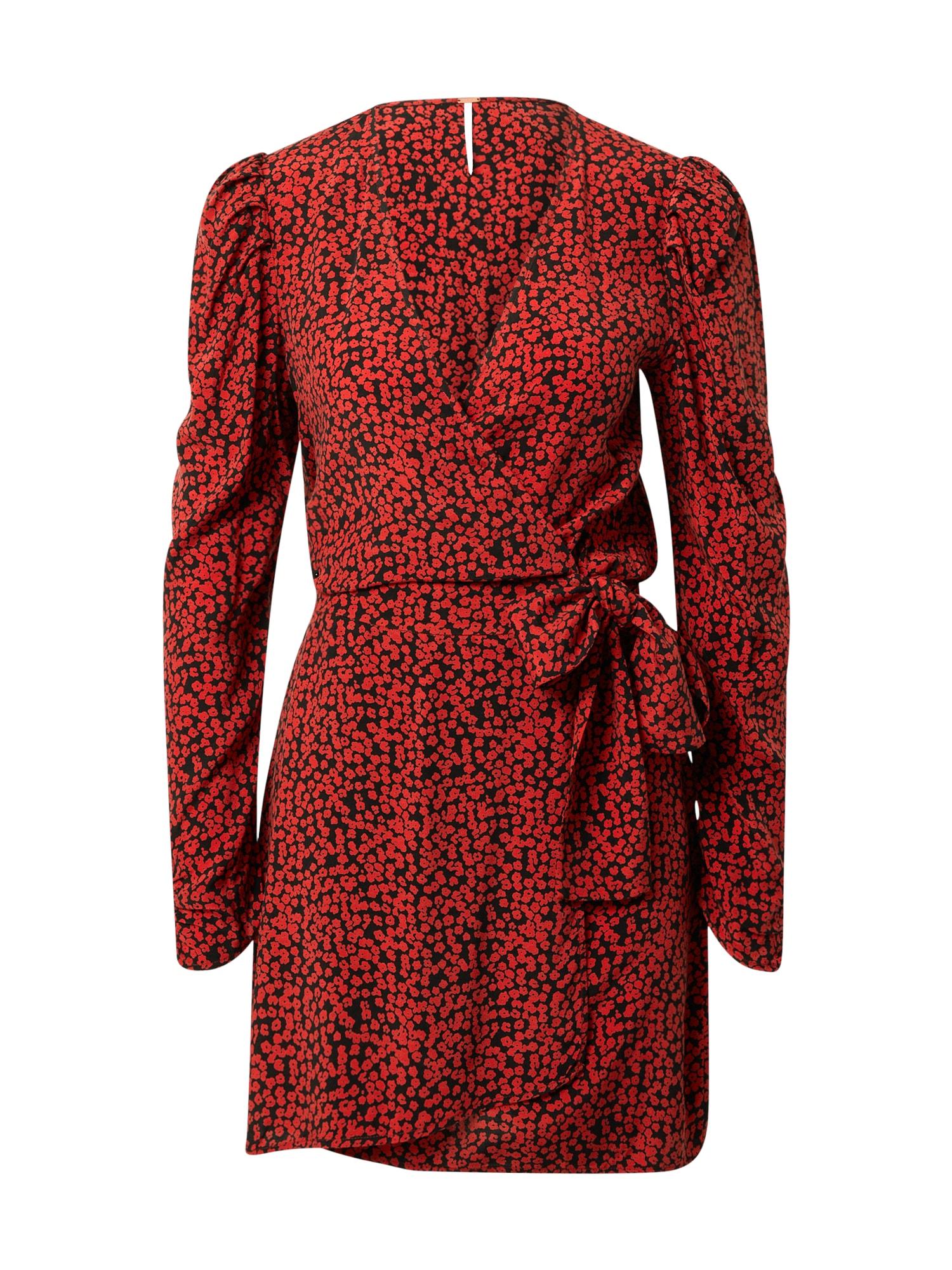 Free People Šaty 'Kinsley'  černá / červená