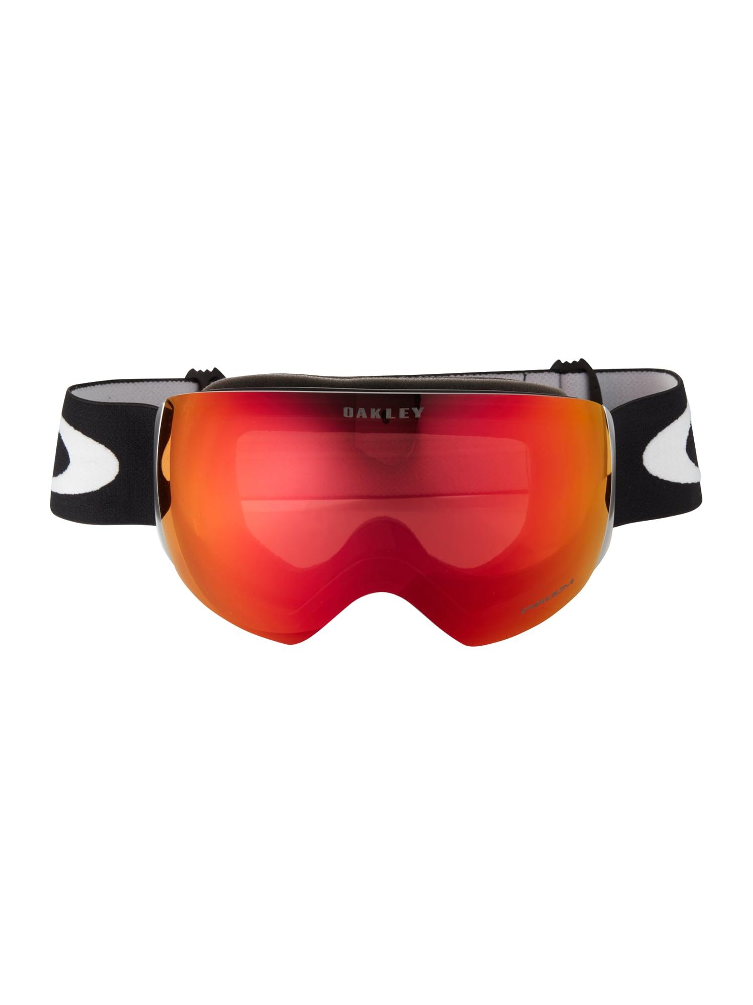 OAKLEY Sportiniai akiniai 'Flight Deck' tamsiai oranžinė / juoda
