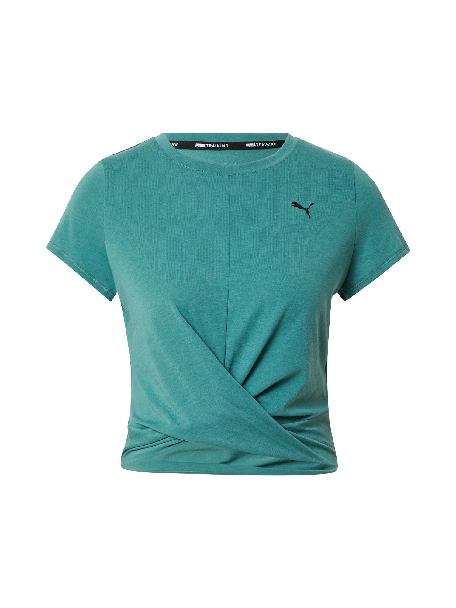 PUMA Funkční tričko  smaragdová / černá