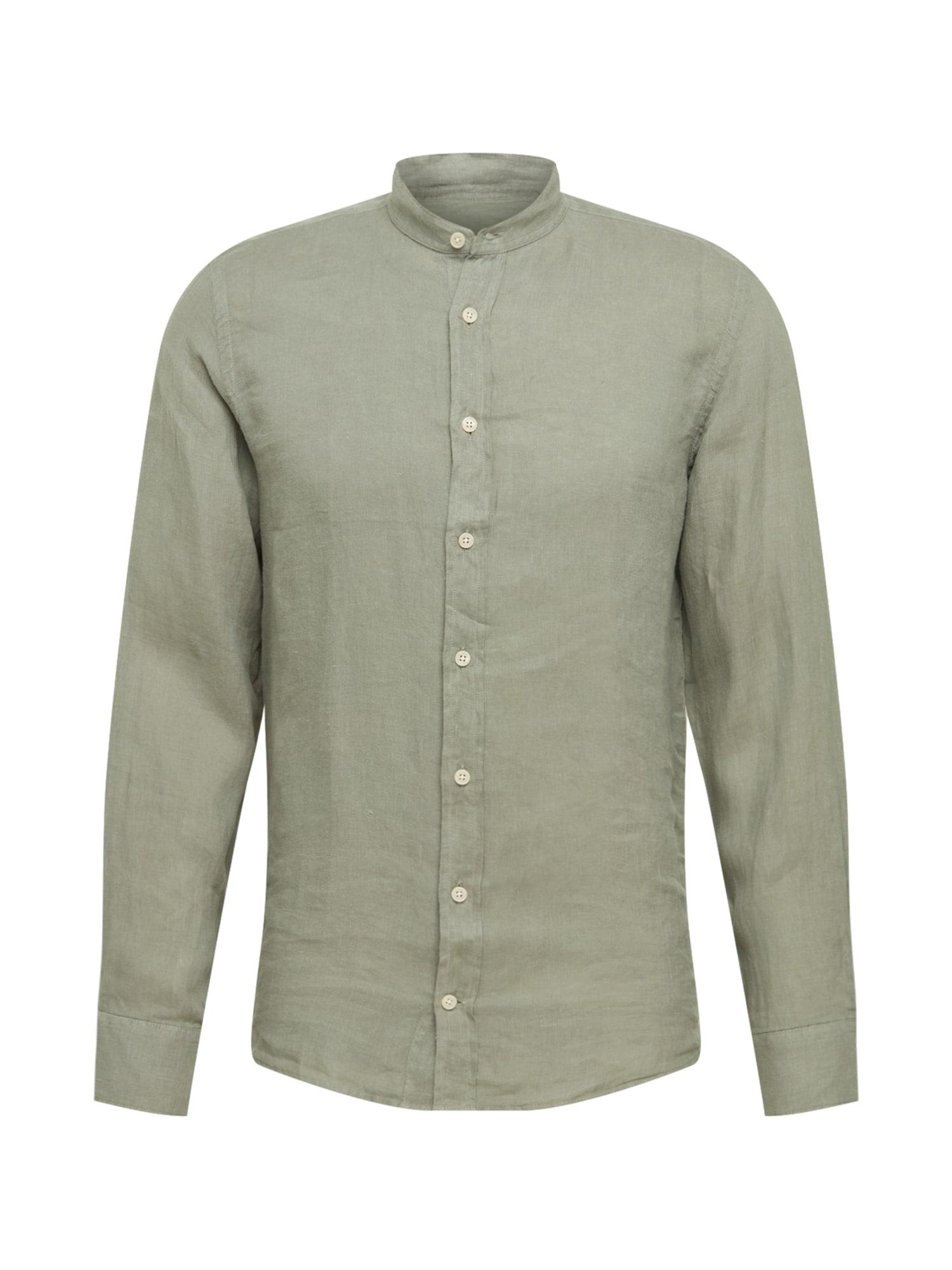 Hackett London Marškiniai rusvai žalia