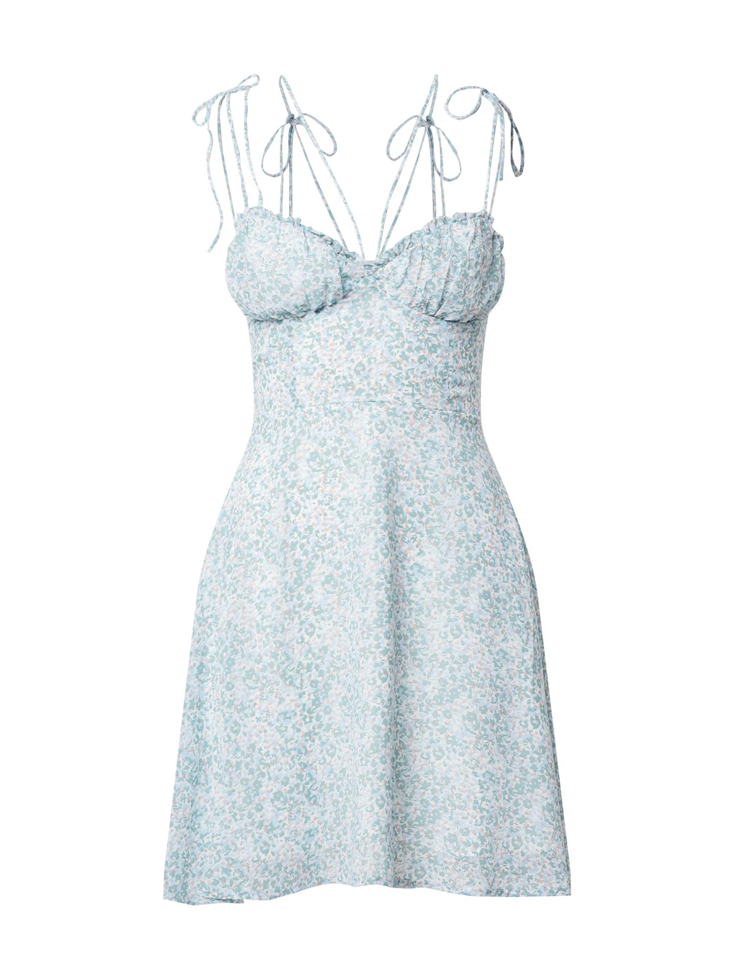 Parallel Lines Vasarinė suknelė balta / šviesiai mėlyna