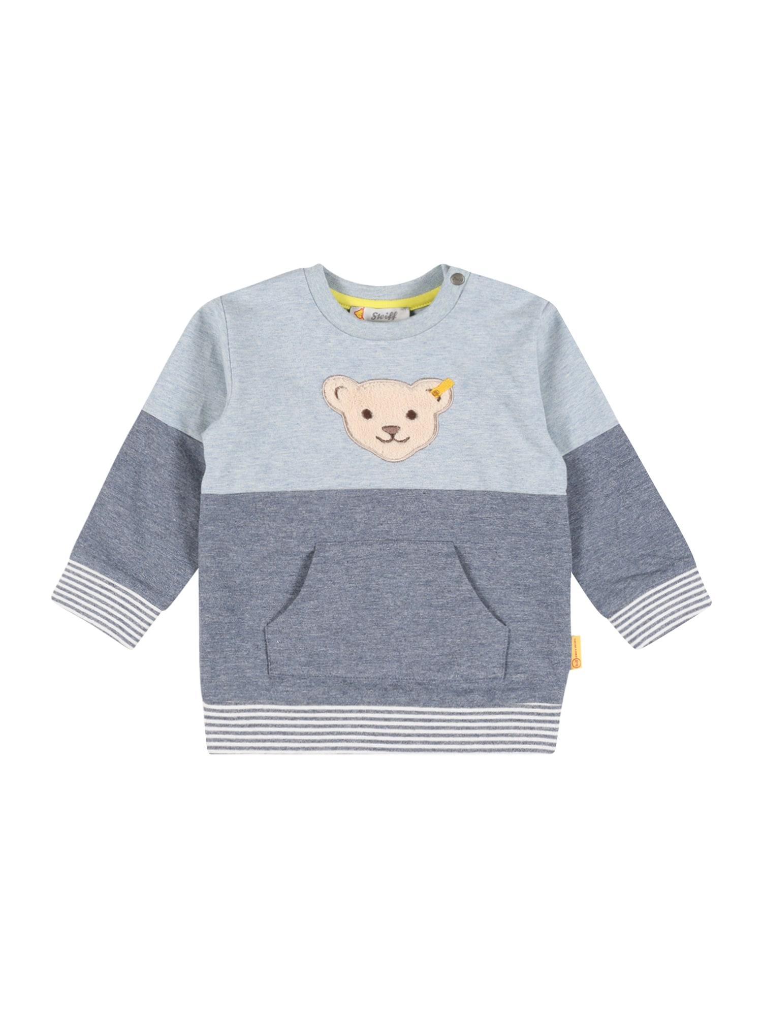 Steiff Collection Megztinis be užsegimo tamsiai mėlyna / šviesiai mėlyna / balta