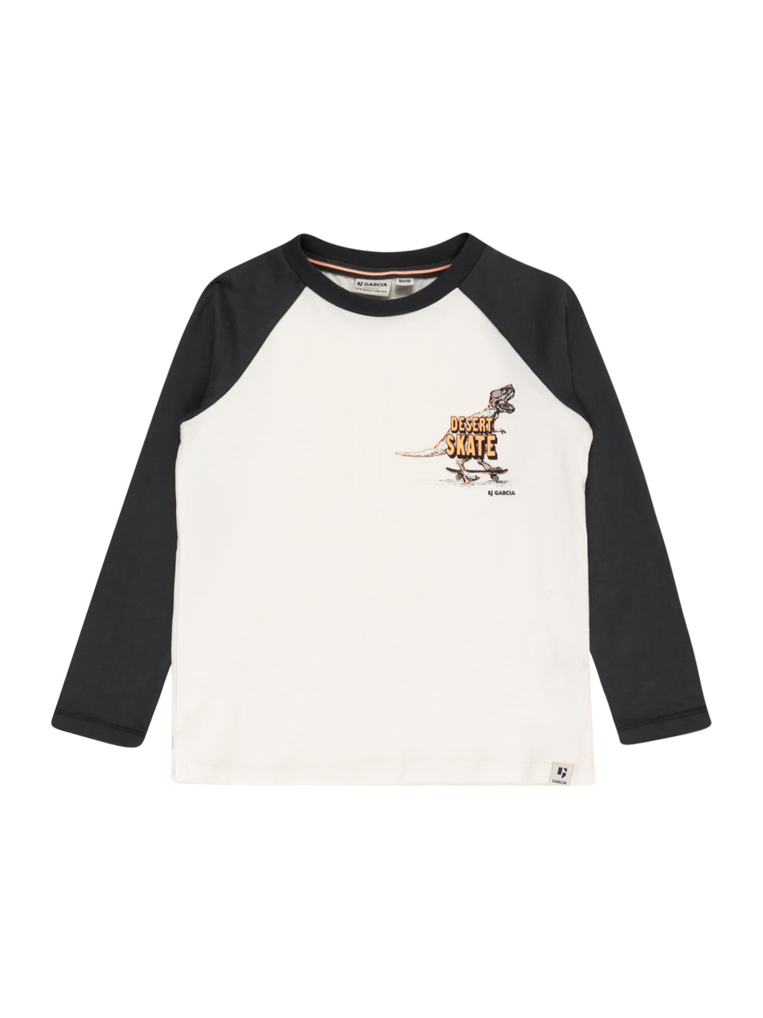 GARCIA Marškinėliai balkšva / juoda / oranžinė