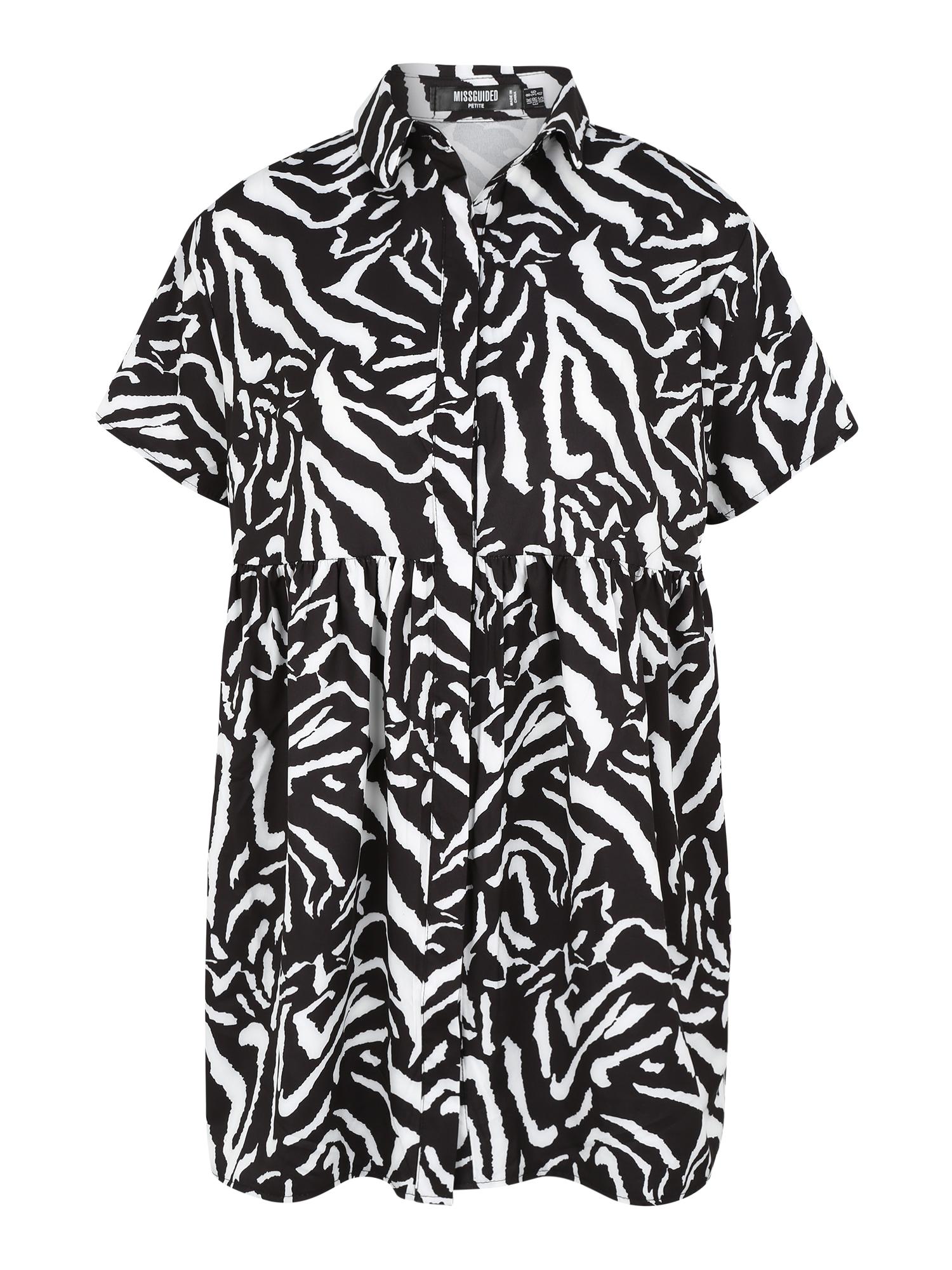 Missguided (Petite) Palaidinės tipo suknelė juoda / balta