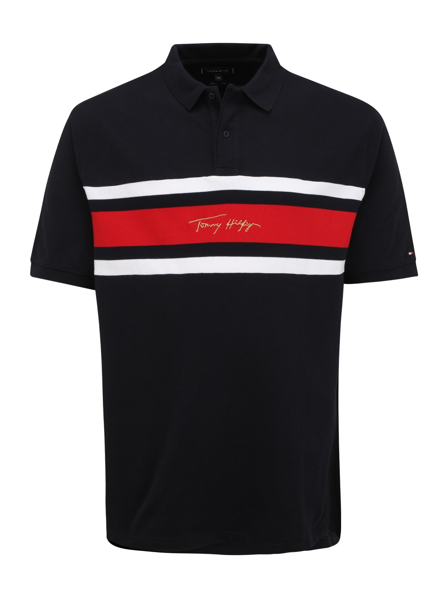 Tommy Hilfiger Big & Tall Marškinėliai nakties mėlyna / raudona / balta