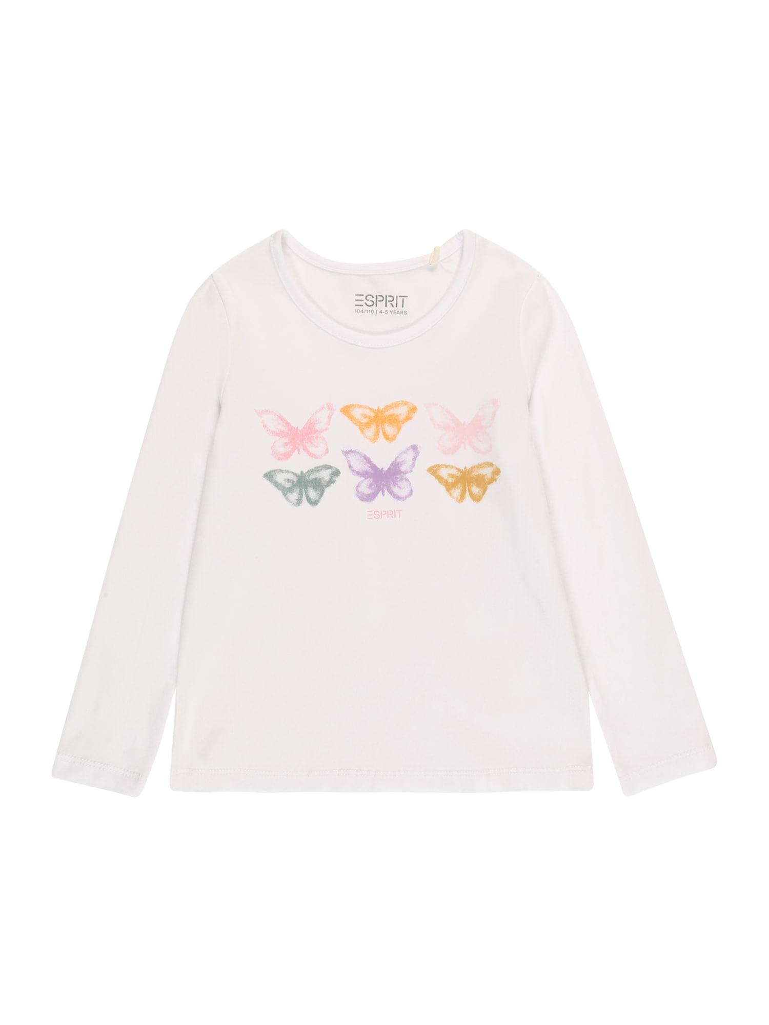 ESPRIT Marškinėliai balta / mišrios spalvos