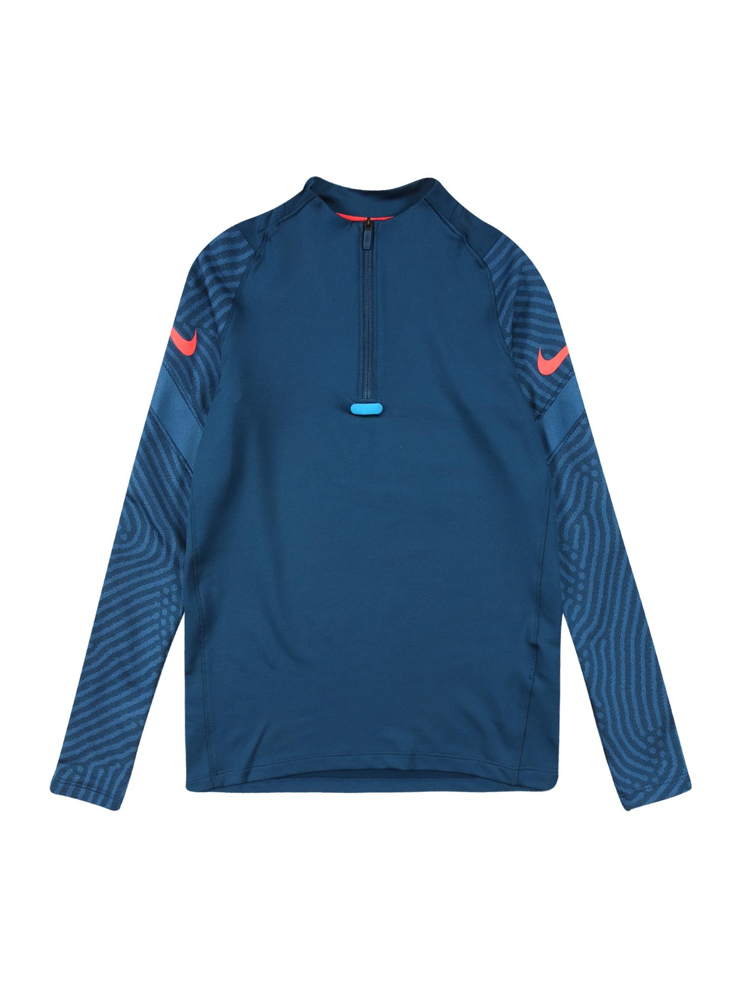 NIKE Sportinio tipo megztinis 'Strike' pastelinė mėlyna / lašišų spalva