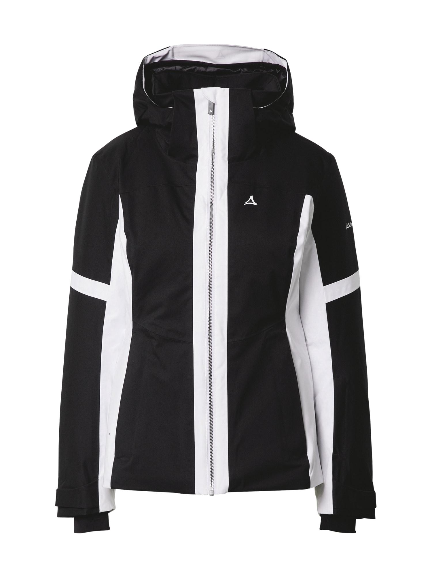 Schöffel Outdoorová bunda  černá / bílá