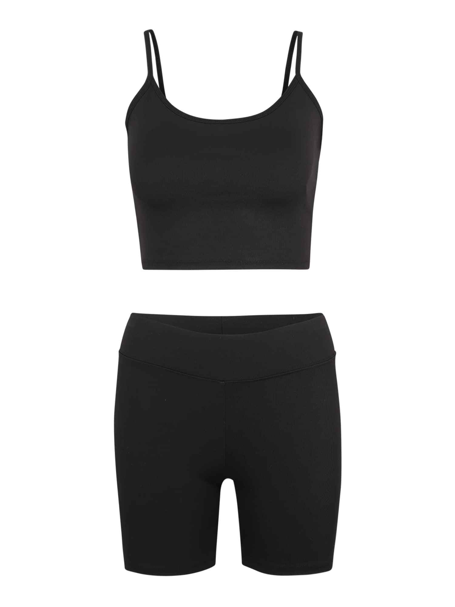 Gina Tricot (Petite) Moteriškas kostiumėlis su kelnėmis 'Lena' juoda