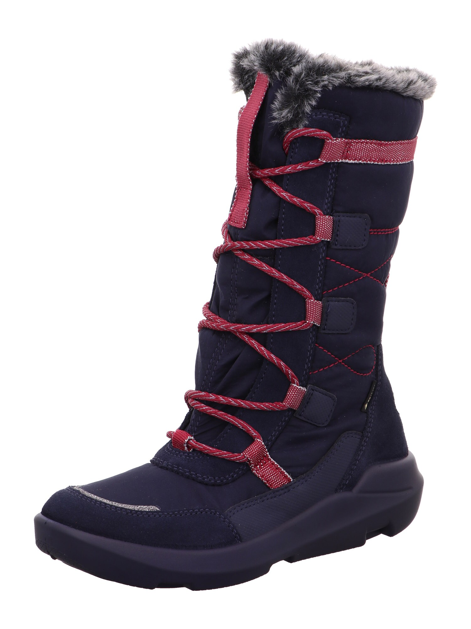 SUPERFIT Sniego batai 'TWILIGHT' rožių spalva / mėlyna