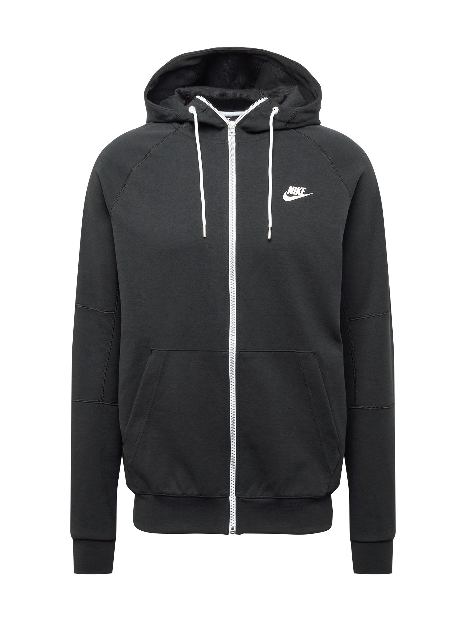 Nike Sportswear Džemperis juoda / balta