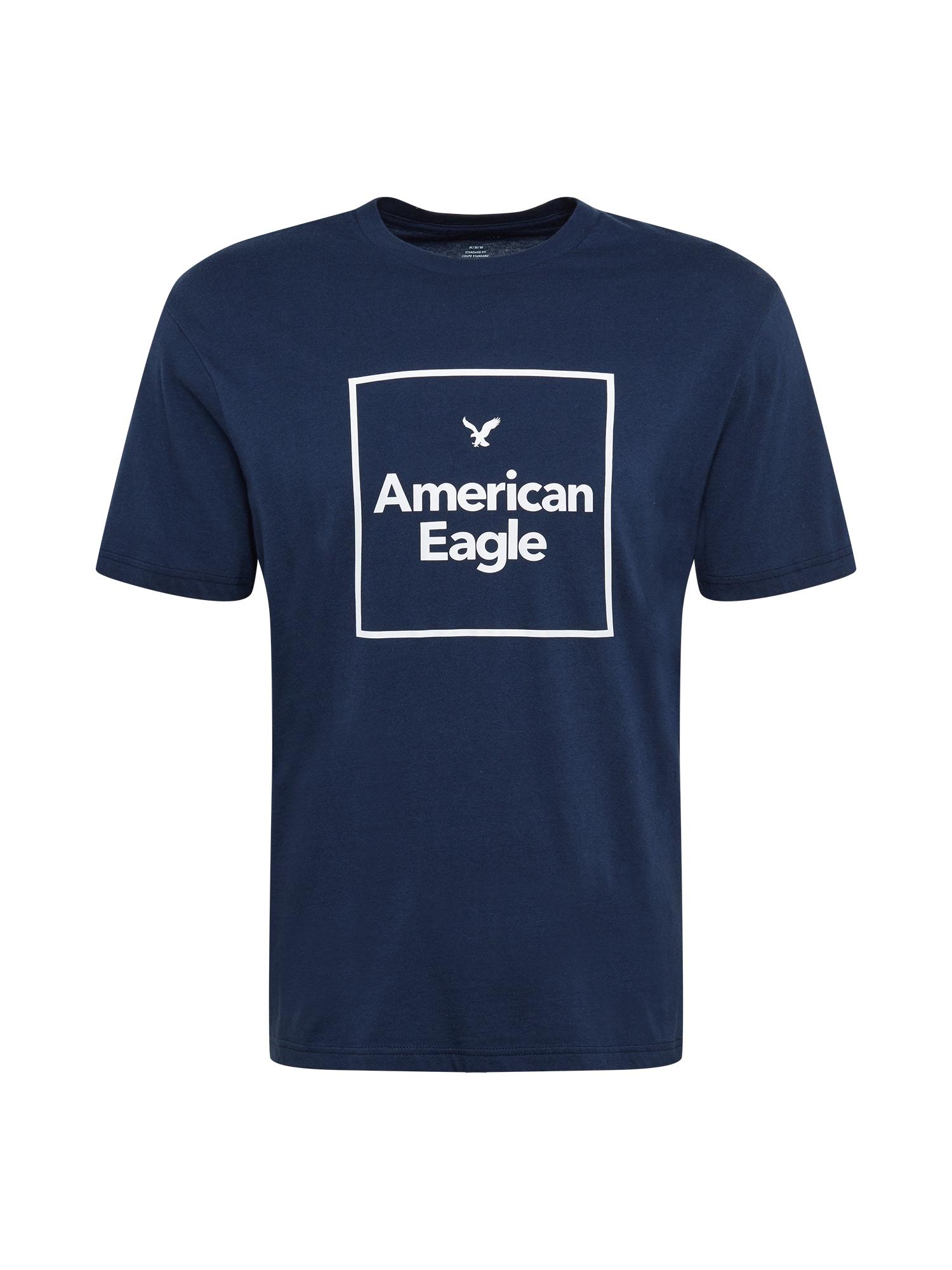 American Eagle Tričko  námořnická modř / bílá