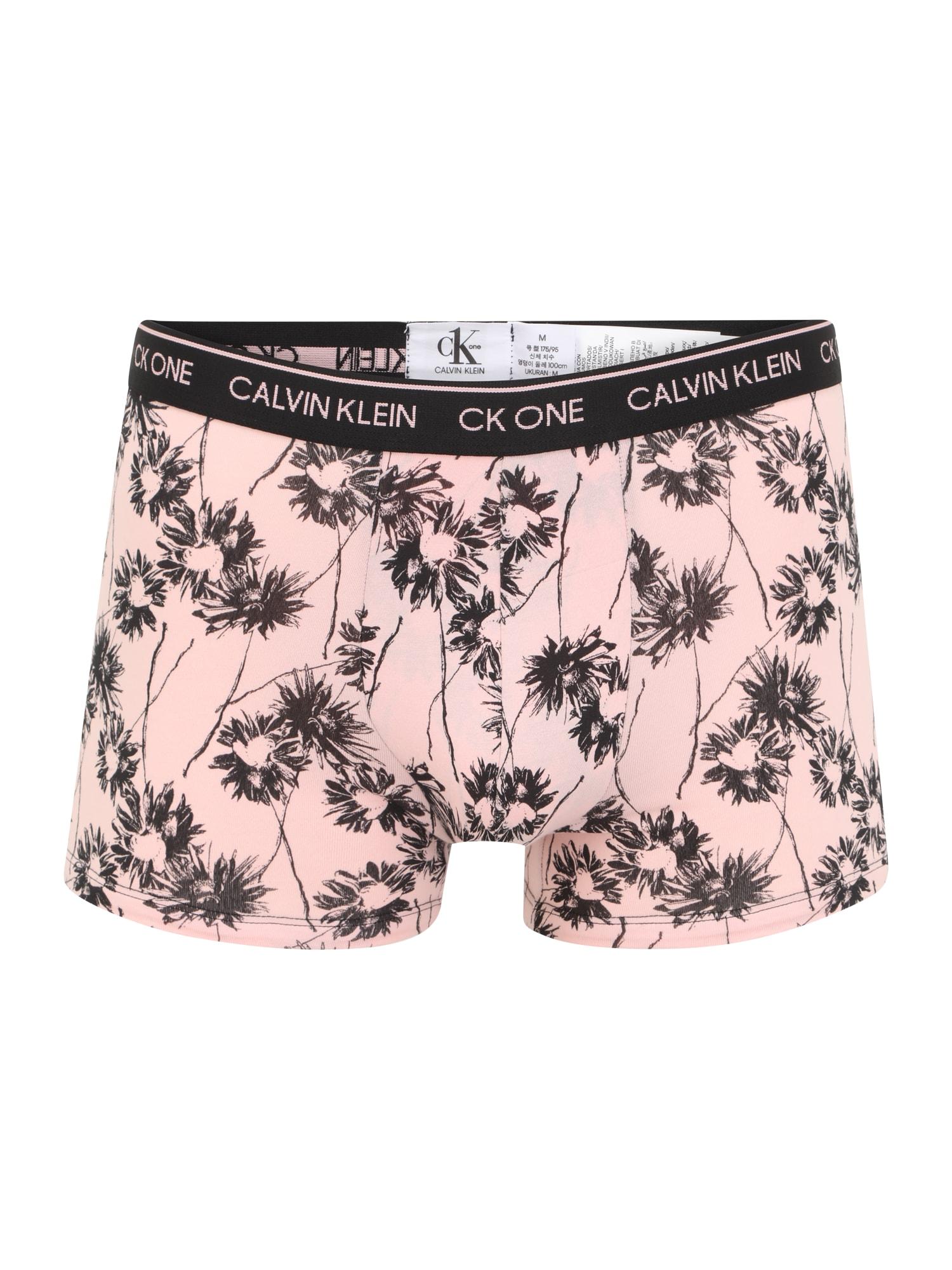 Calvin Klein Underwear Boxer trumpikės juoda / pudros spalva