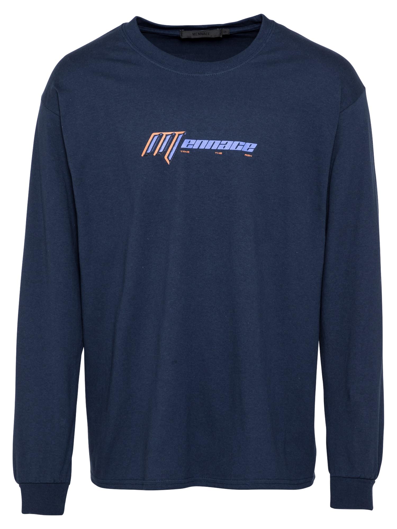 Mennace Marškinėliai tamsiai mėlyna / mėlyna