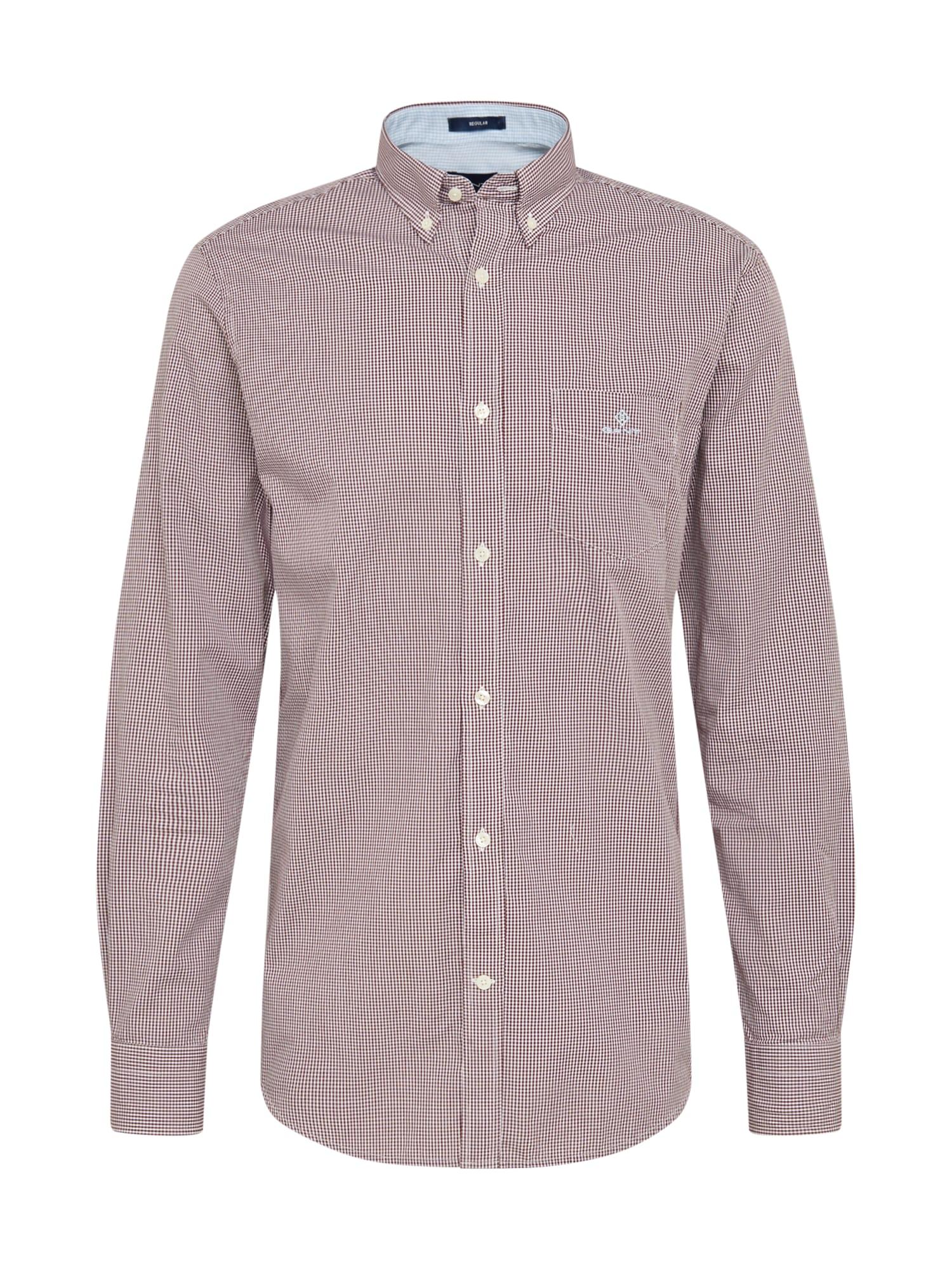 GANT Marškiniai vyšninė spalva / balta