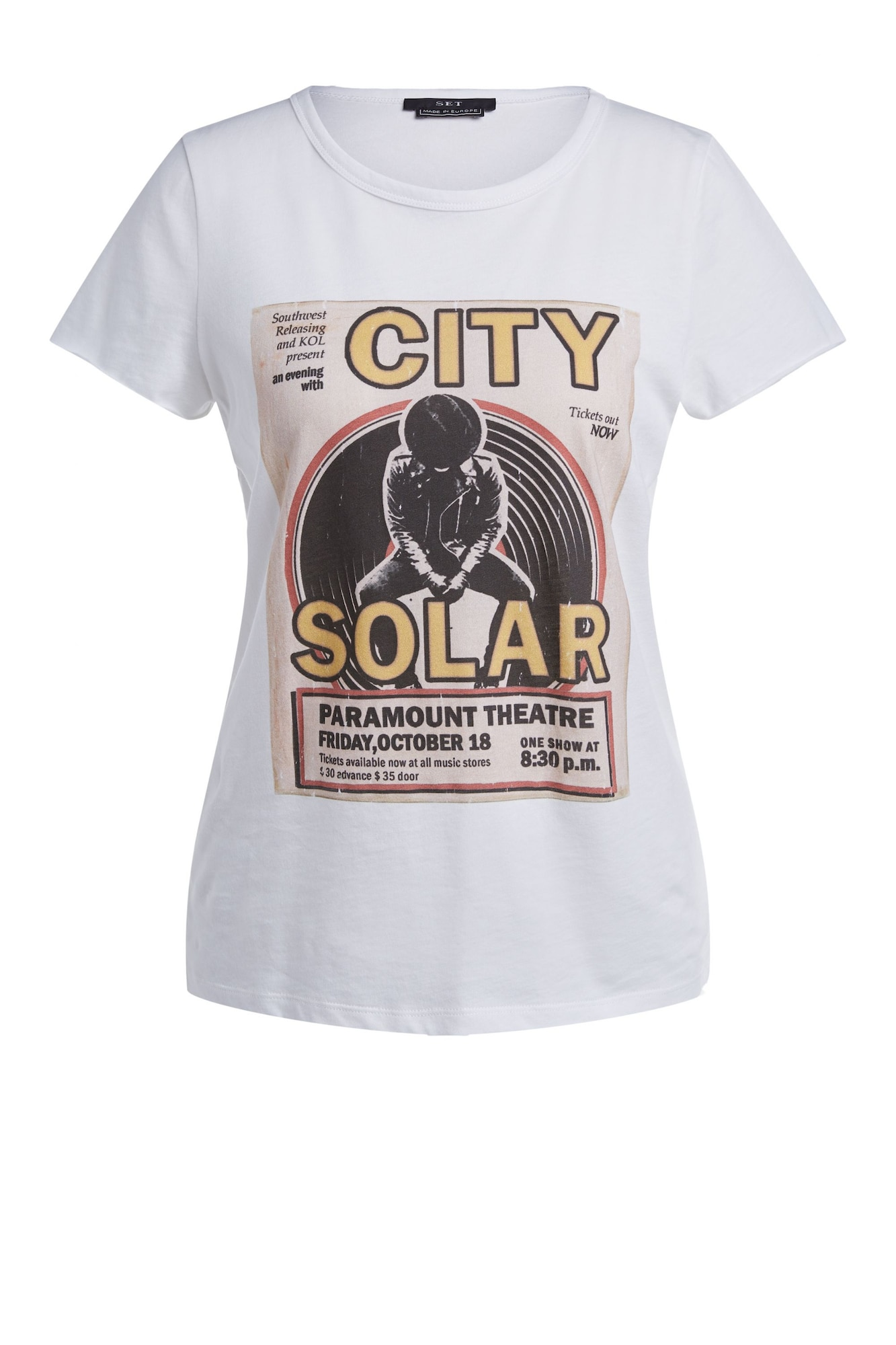 SET Marškinėliai balta / juoda / geltona