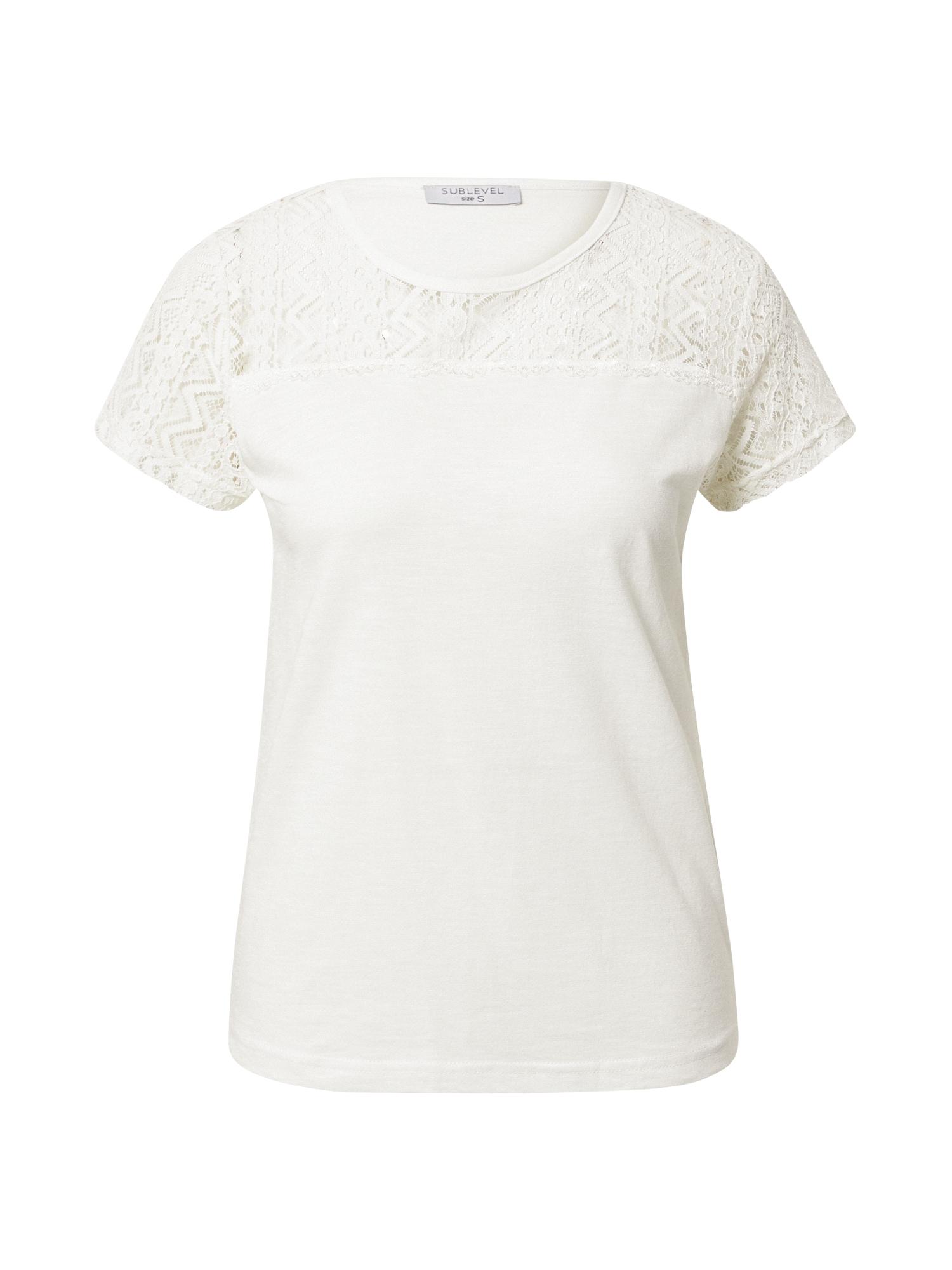 Sublevel Marškinėliai natūrali balta