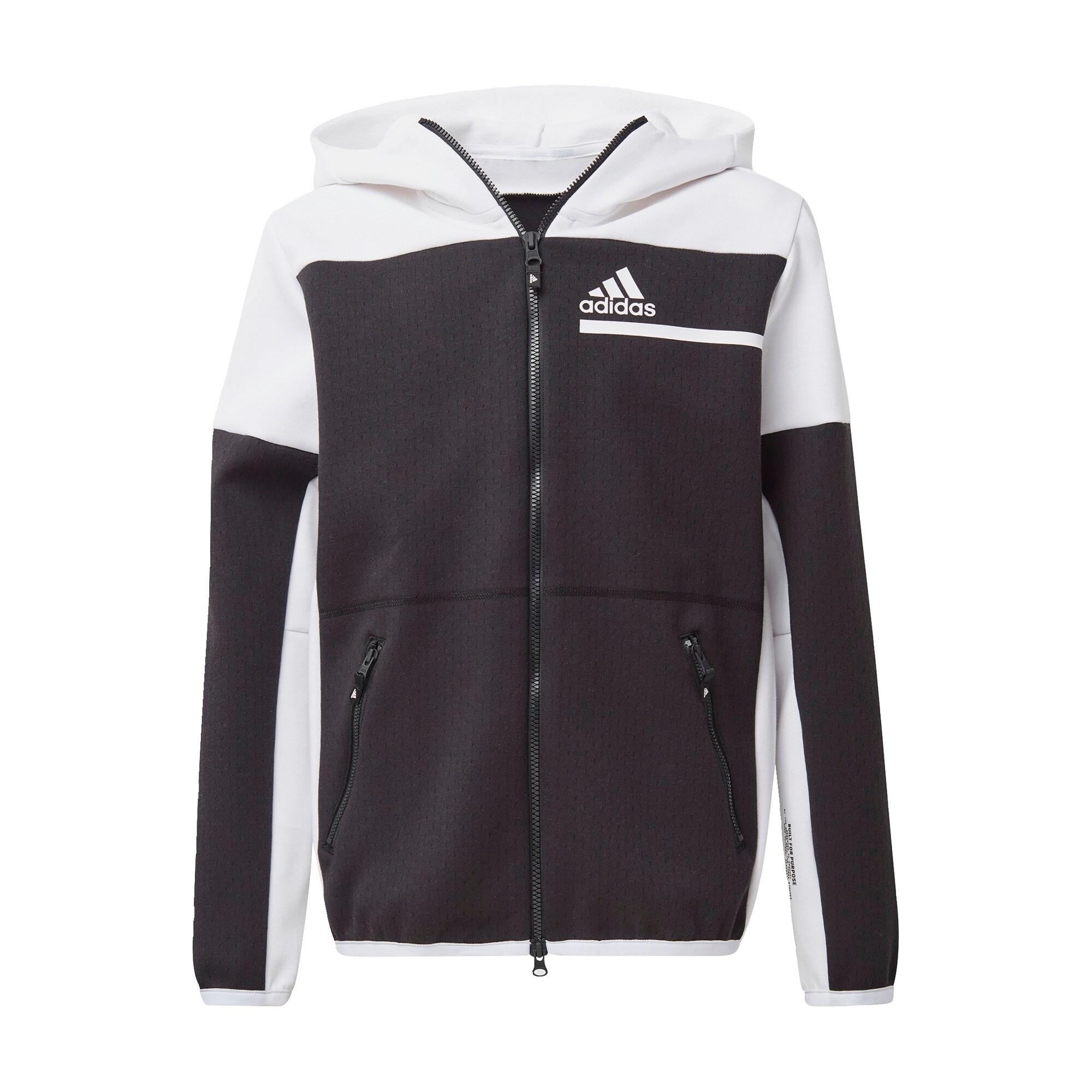 ADIDAS PERFORMANCE Sportinis megztinis juoda / balta