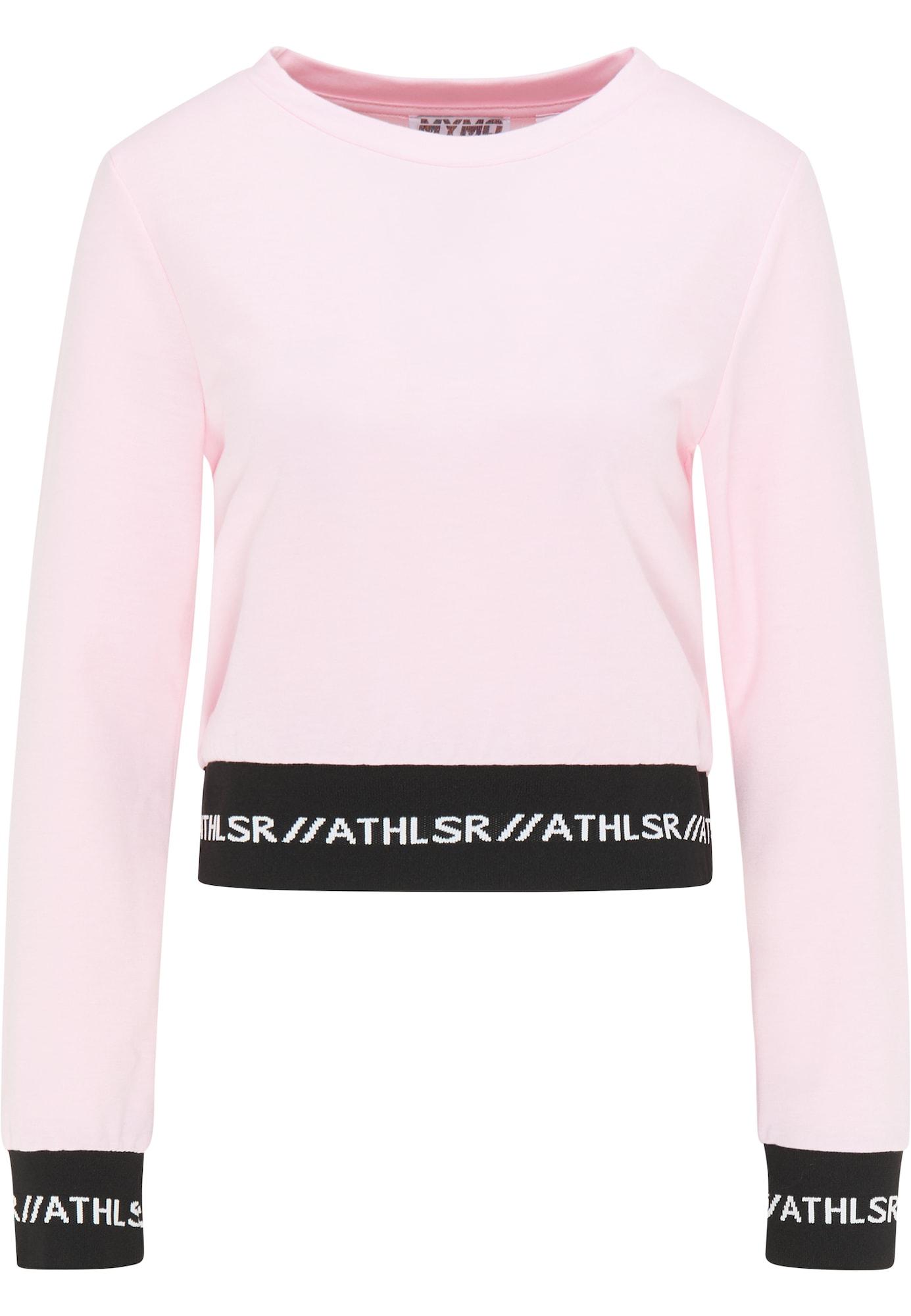 myMo ATHLSR Sportinio tipo megztinis šviesiai rožinė / juoda