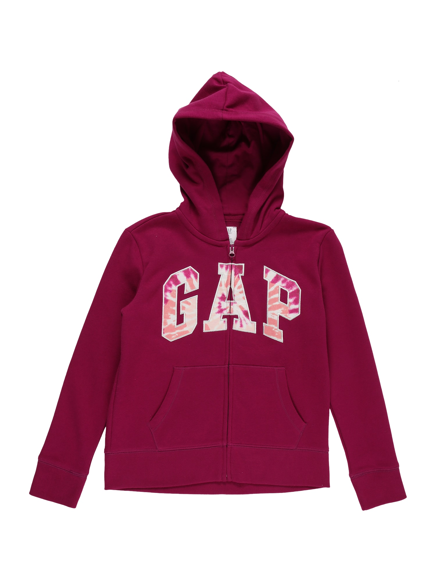 GAP Džemperis persikų spalva / balta / avietinė / rožinė