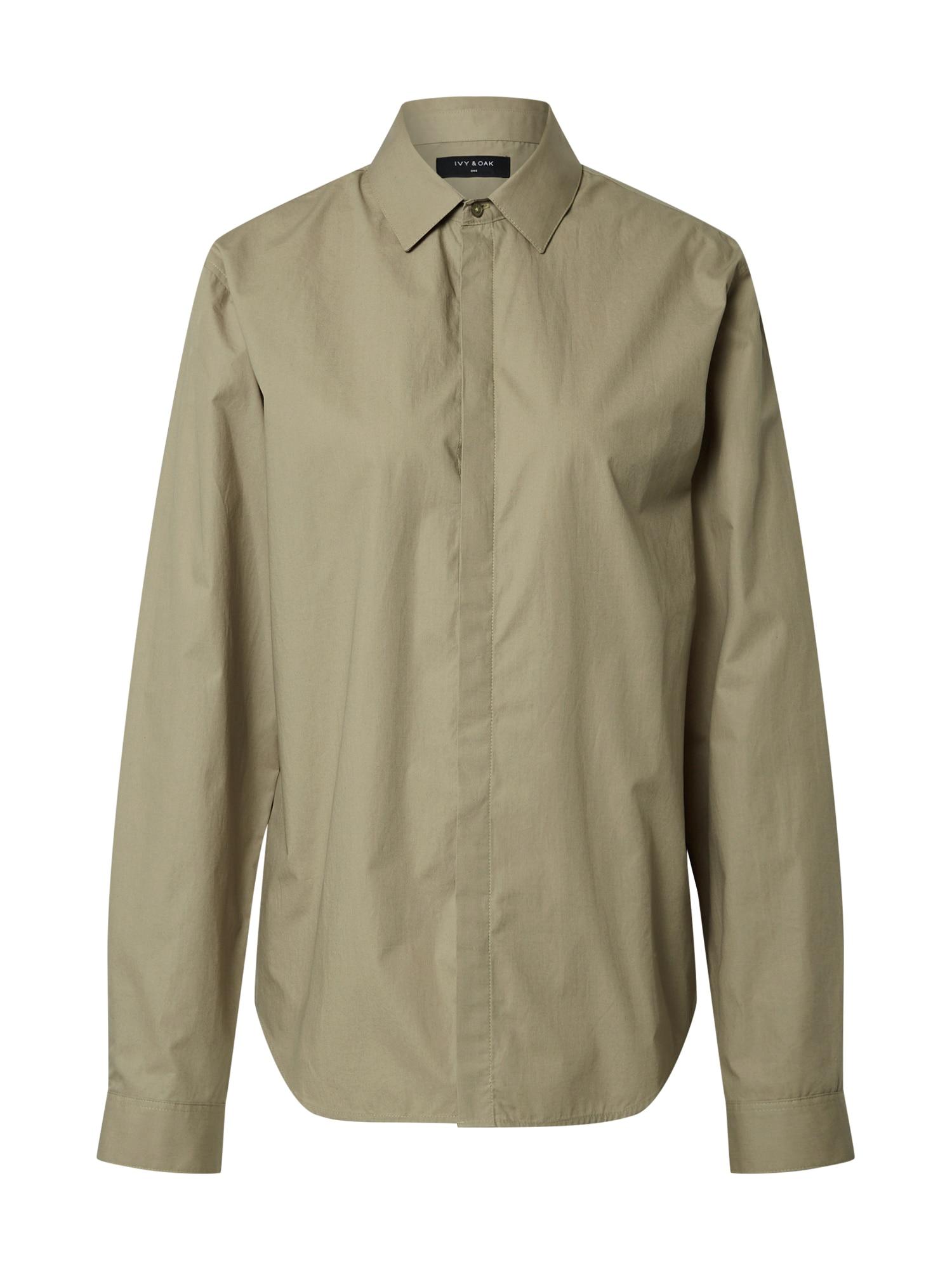 IVY & OAK Marškiniai rusvai žalia
