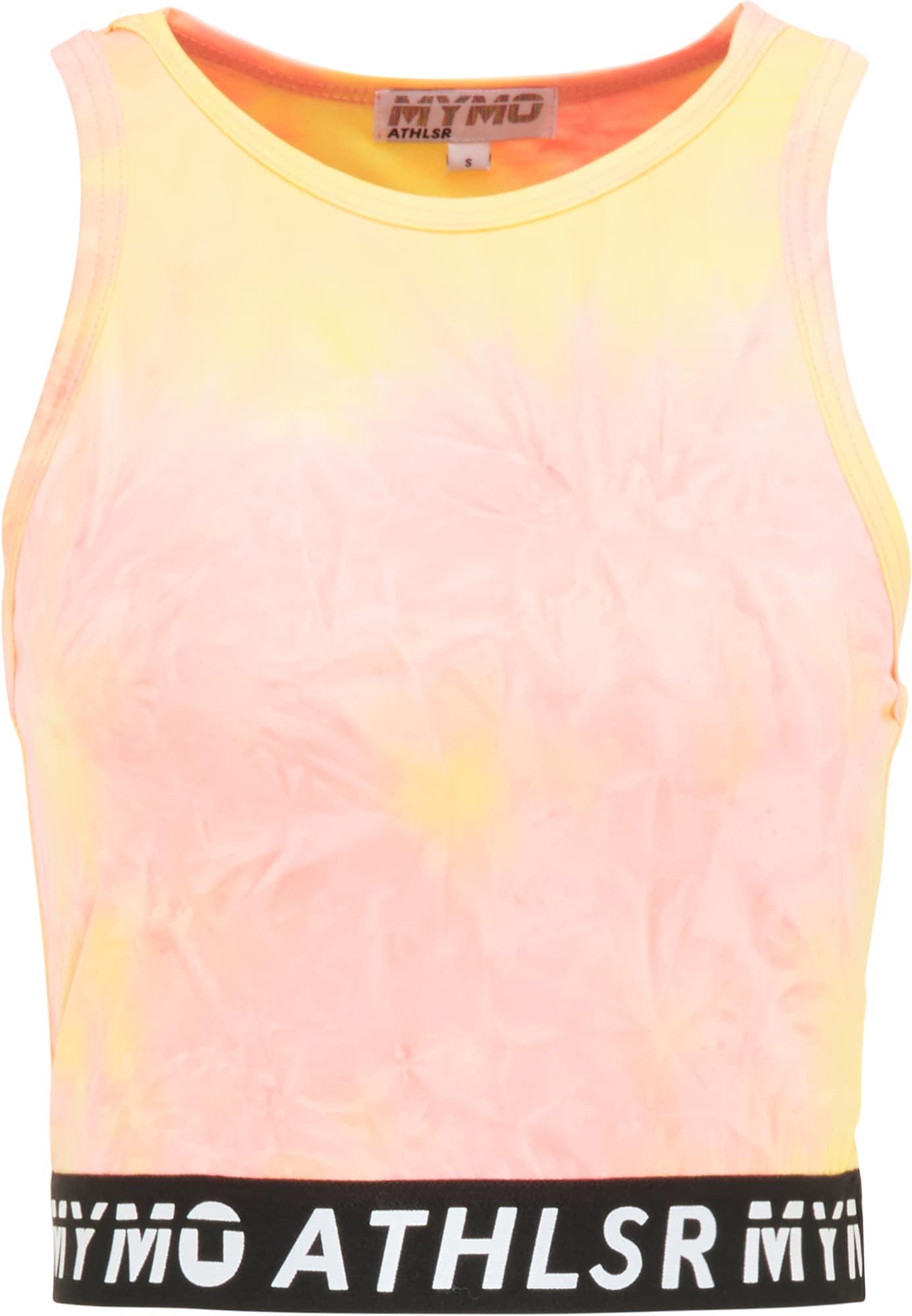 myMo ATHLSR Sportiniai marškinėliai be rankovių rožinė / oranžinė / juoda / balta
