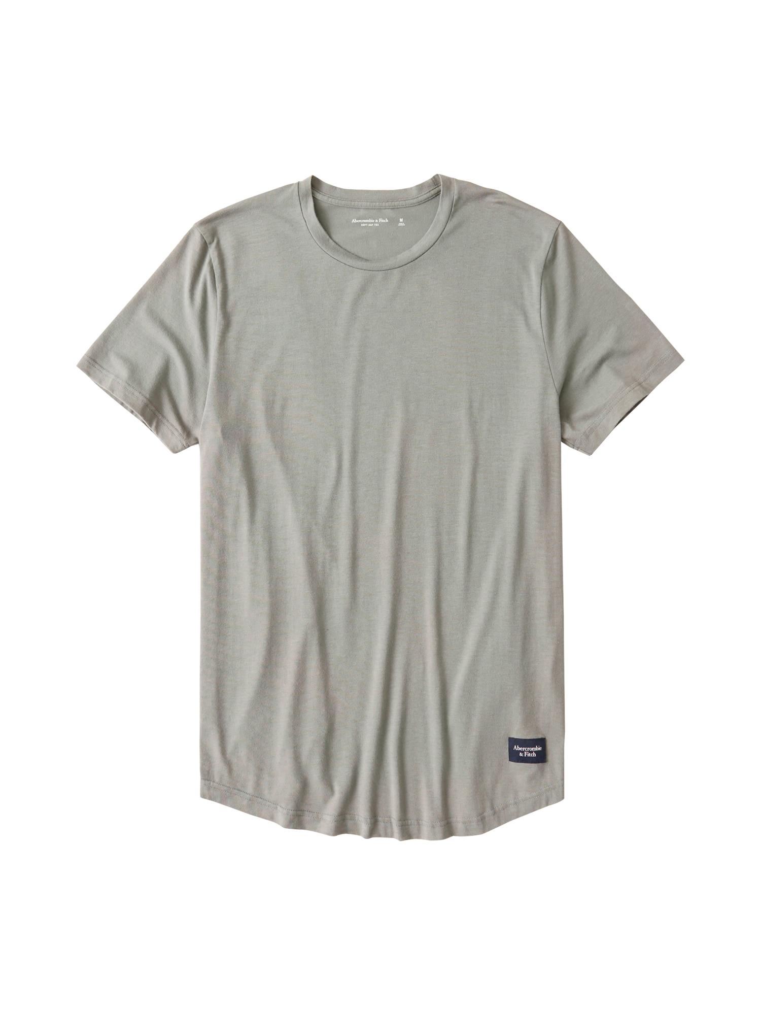 Abercrombie & Fitch Marškinėliai 'COTTON MODAL CURVED' rausvai pilka