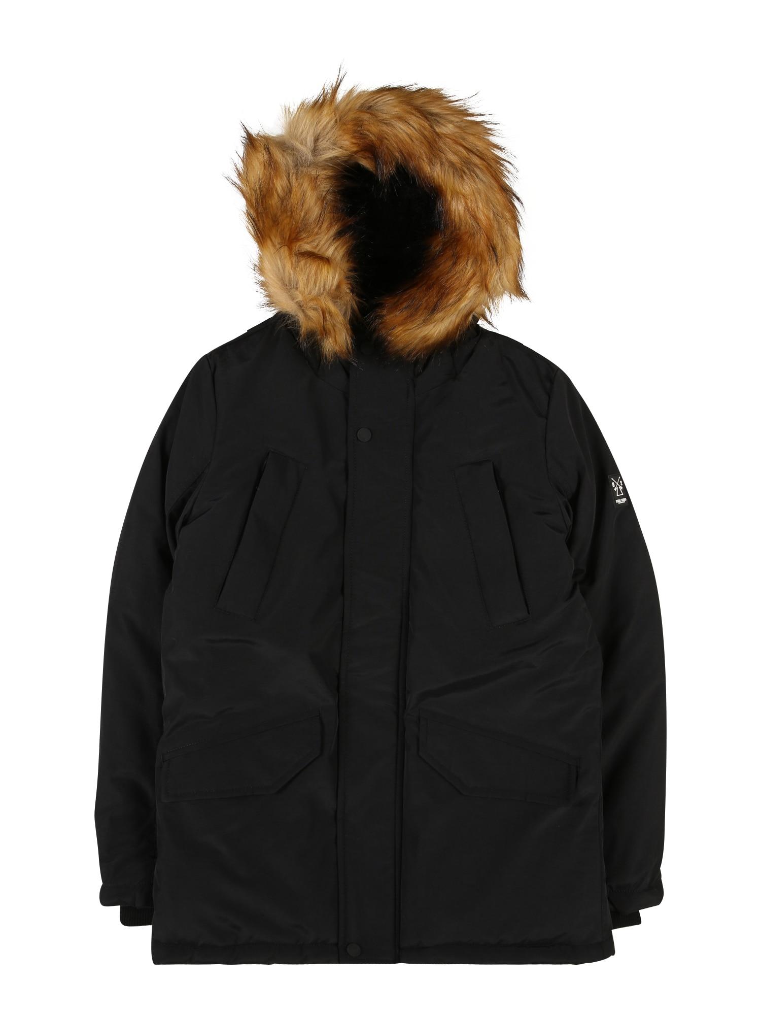 Cars Jeans Žieminė striukė 'ZAGARE' juoda